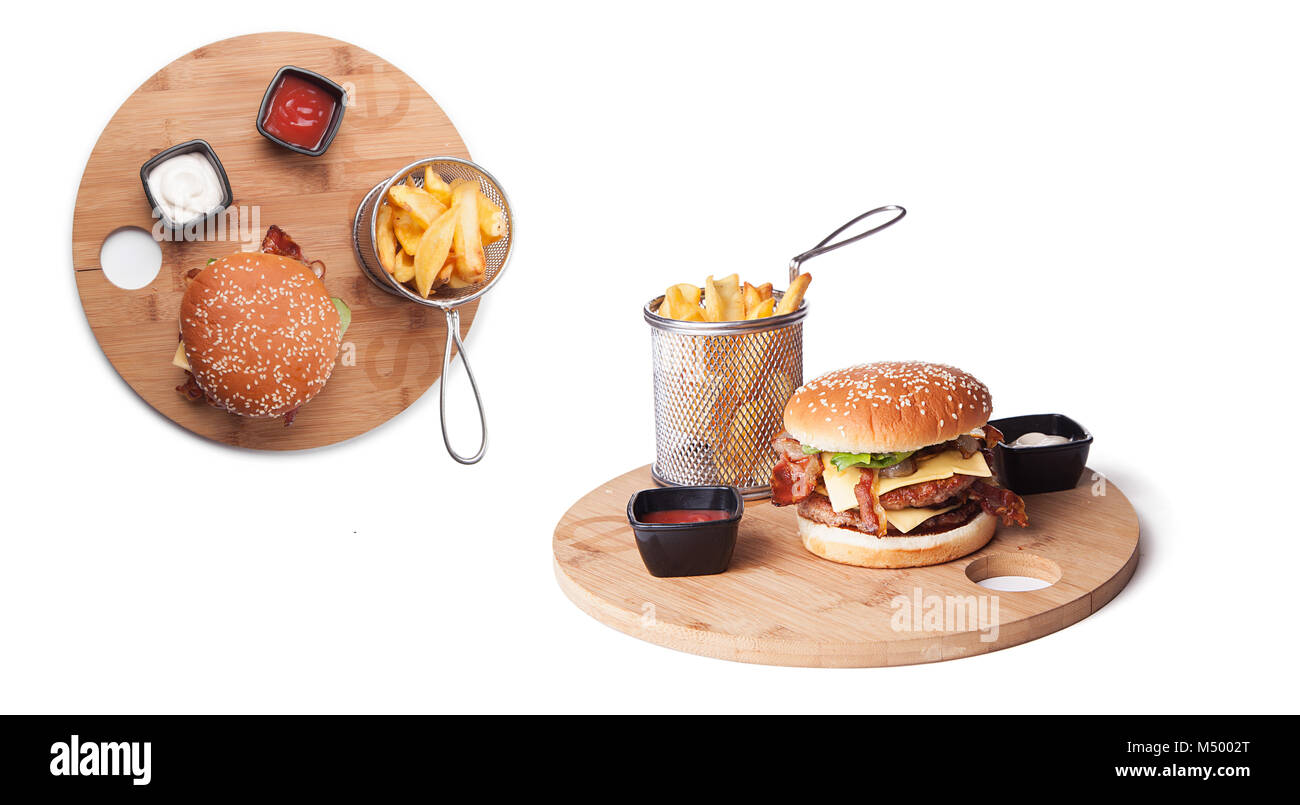 From The Classic Burger Stock Photos & From The Classic Burger Stock ...