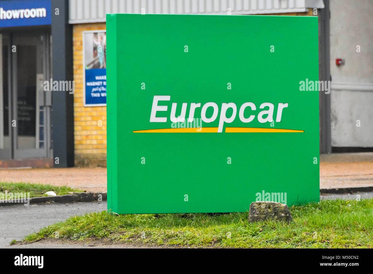 Poole Dorset Uk 19th February 2018 Europcar Car Hire In Poole