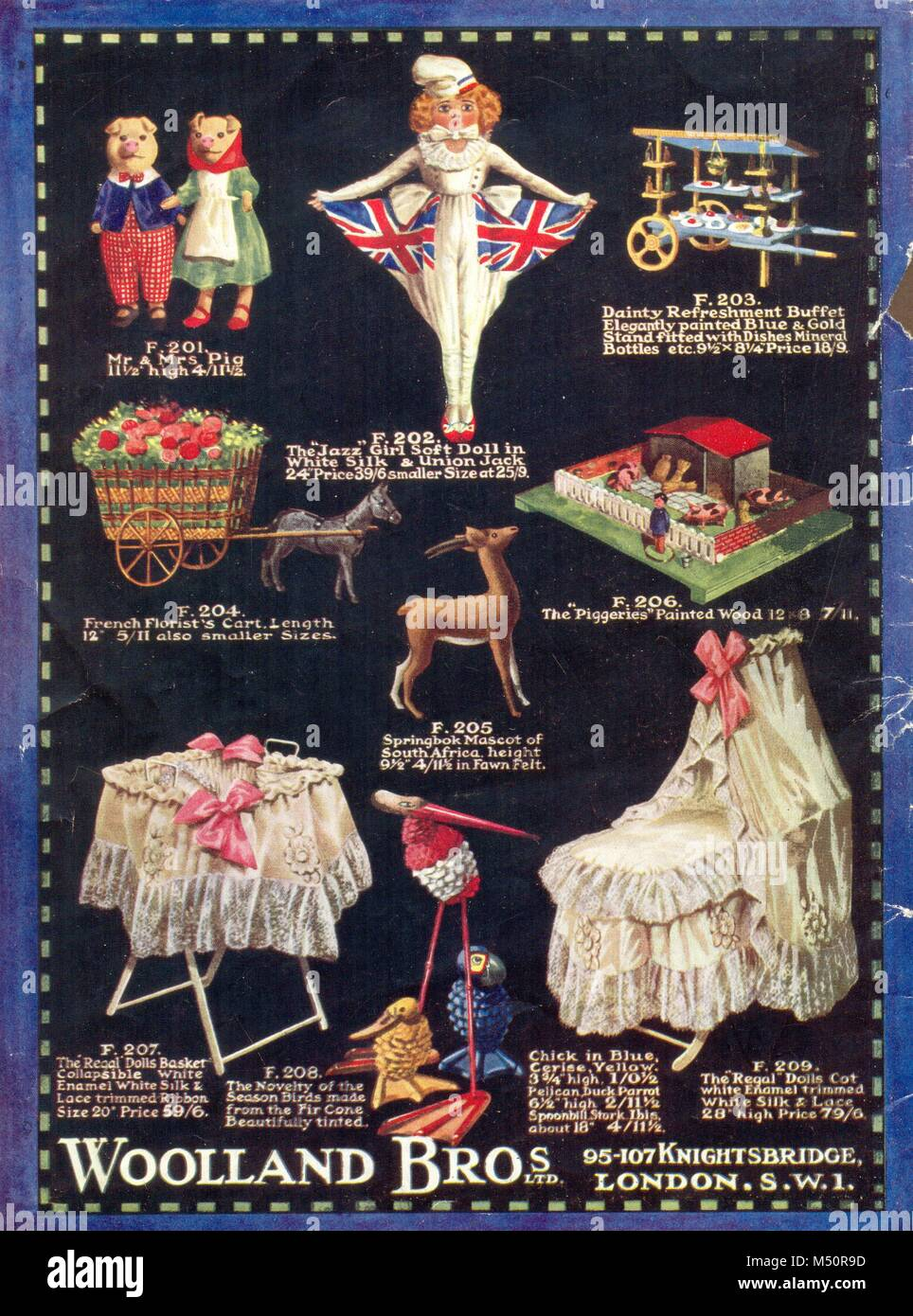 Christmas gift catalogue cover for Woolland Bros. Ltd. 1919 Stock ...