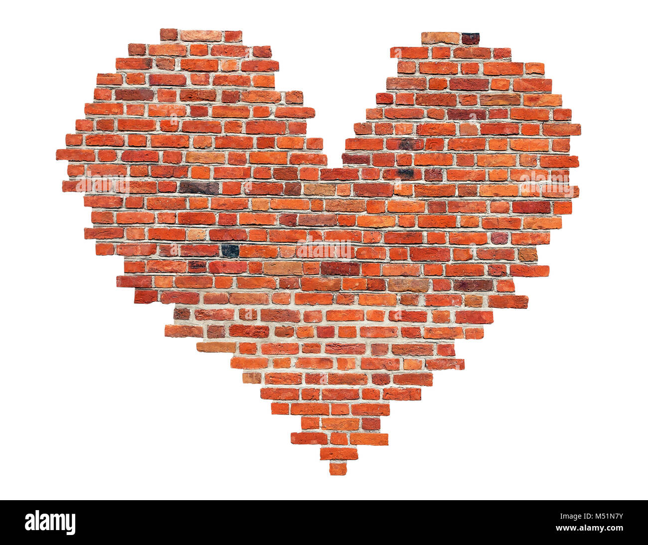 Heart of red old brick like a symbol of love stock photo royalty heart of red old brick like a symbol of love biocorpaavc Images
