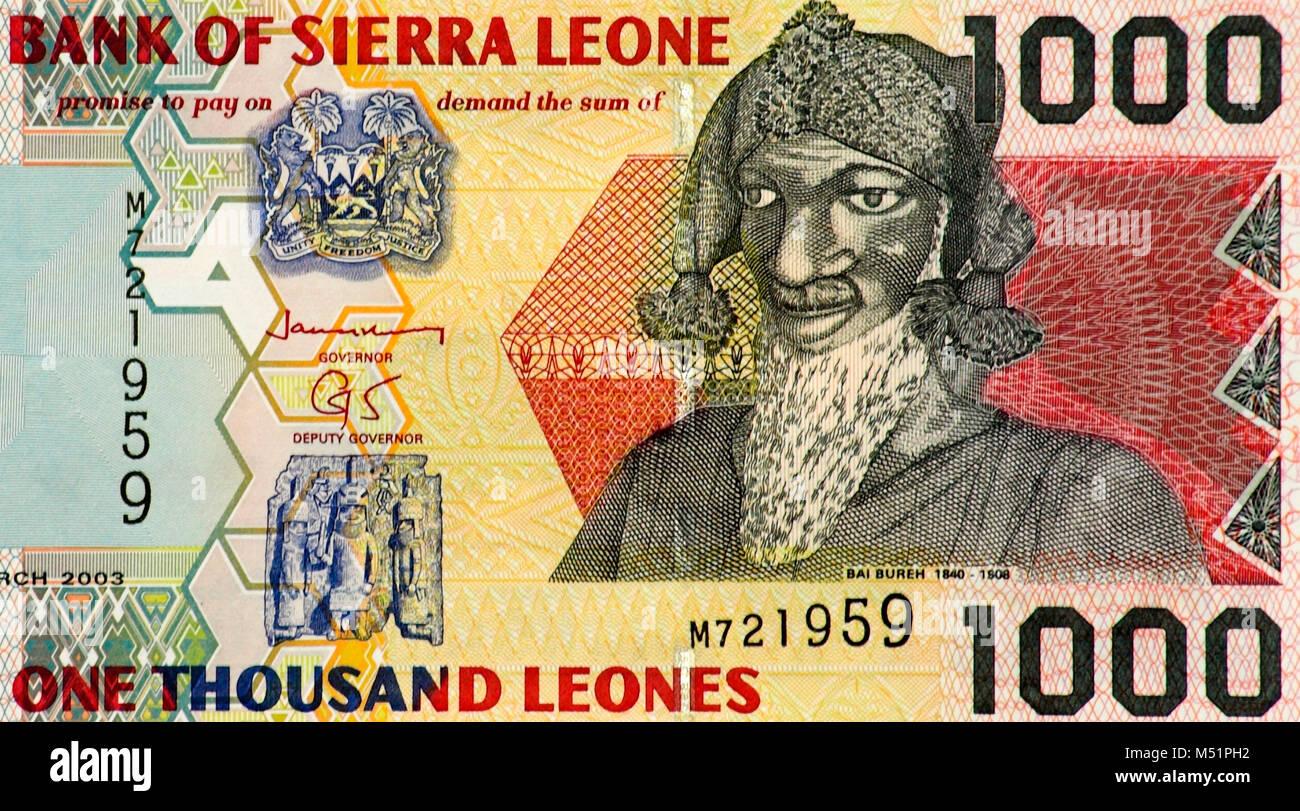 Bank of sierra leone stock photos bank of sierra leone stock sierra leone 1000 leone bank note stock image biocorpaavc