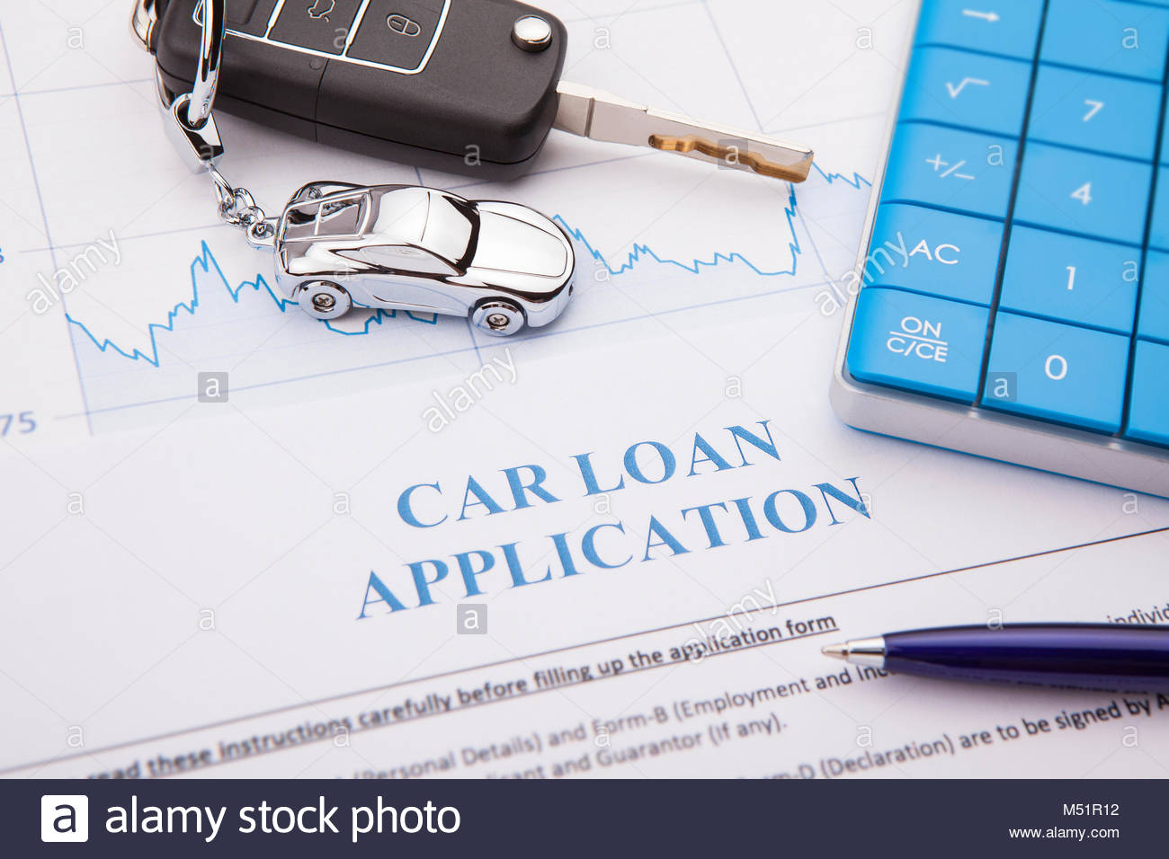 Approved Car Loan Application Form Lay Down On Desk