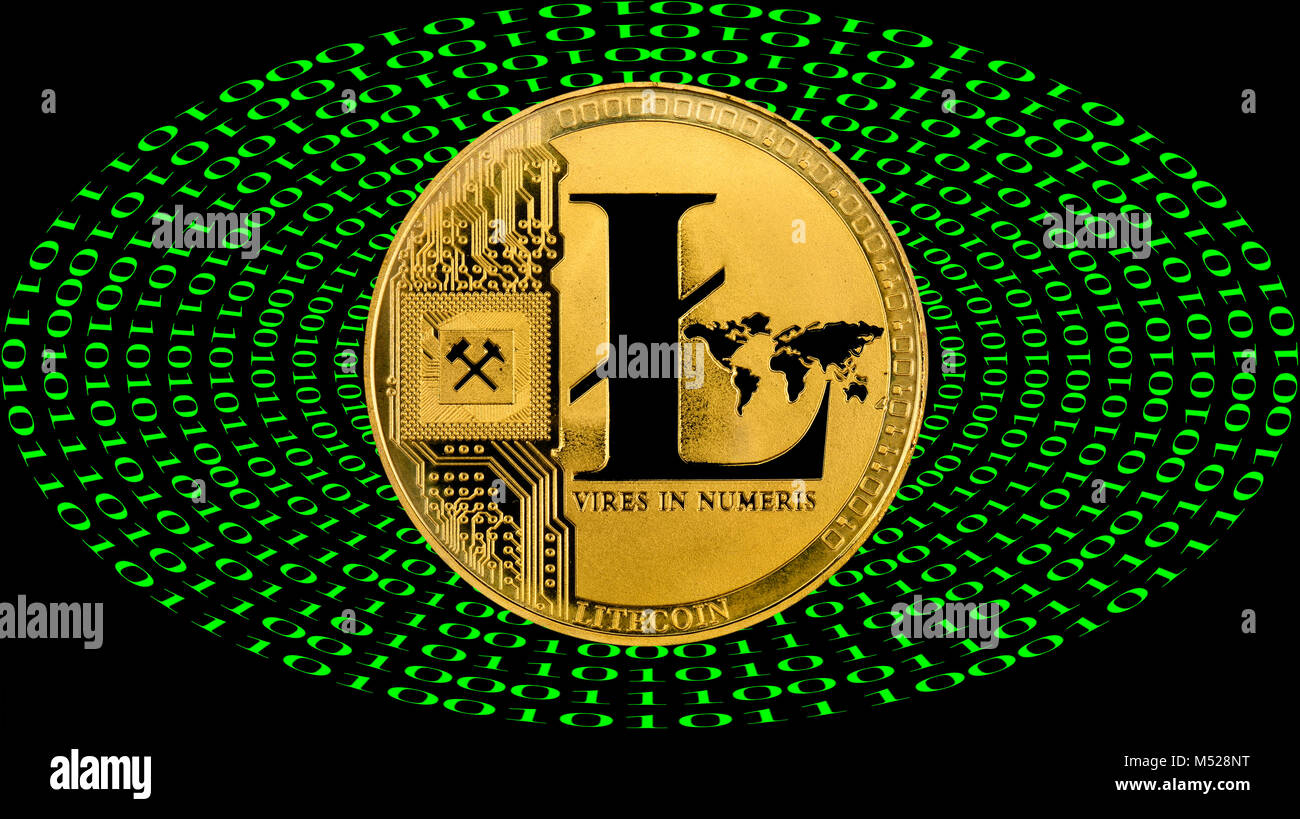 Symbol Image Cryptocurrencydigital Currencygolden Coin Litecoin