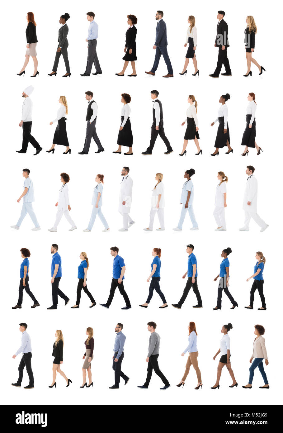 People Occupations Jobs And Community At: Group Of People Different Occupations Stock Photos & Group