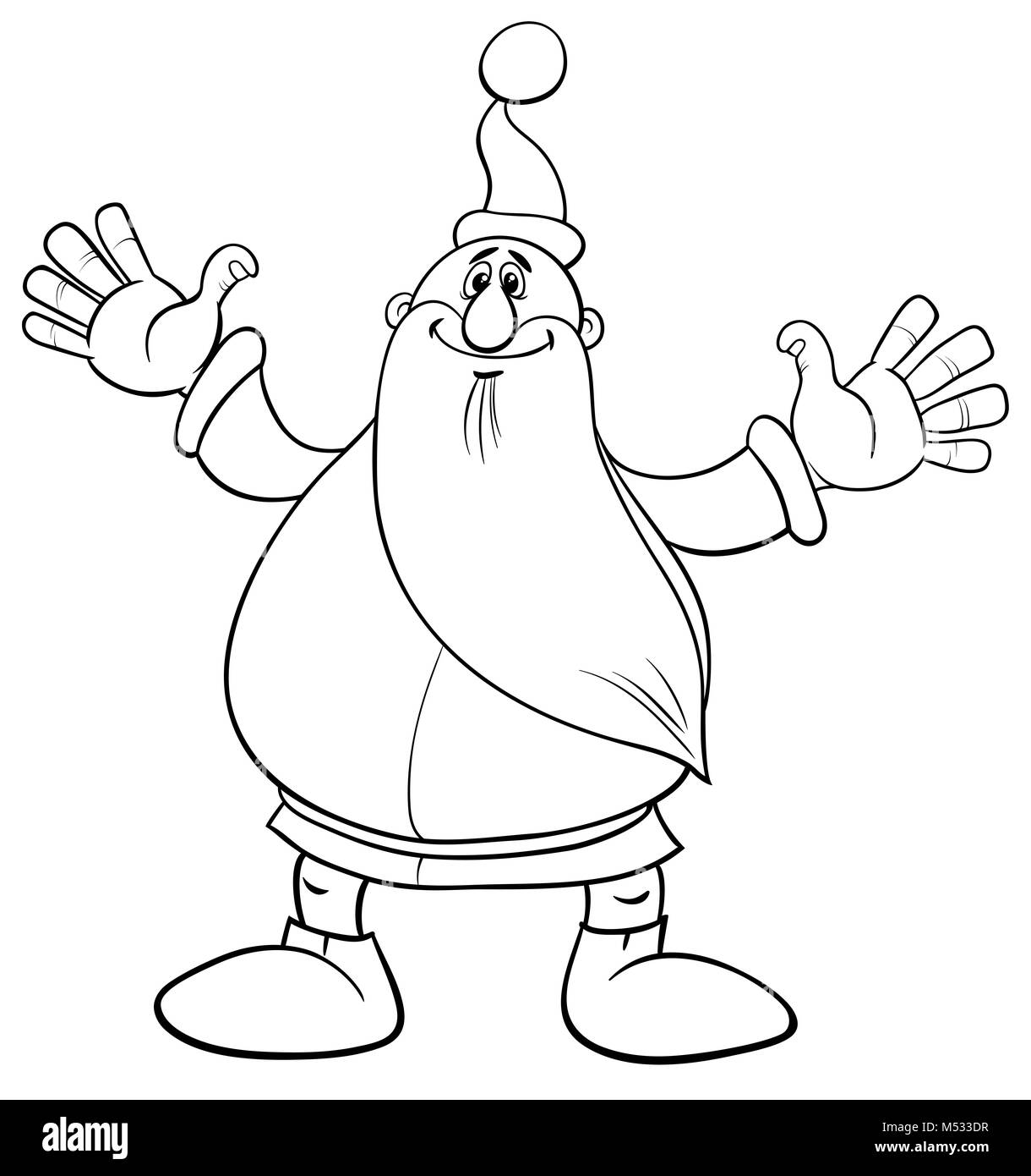 santa claus christmas coloring page