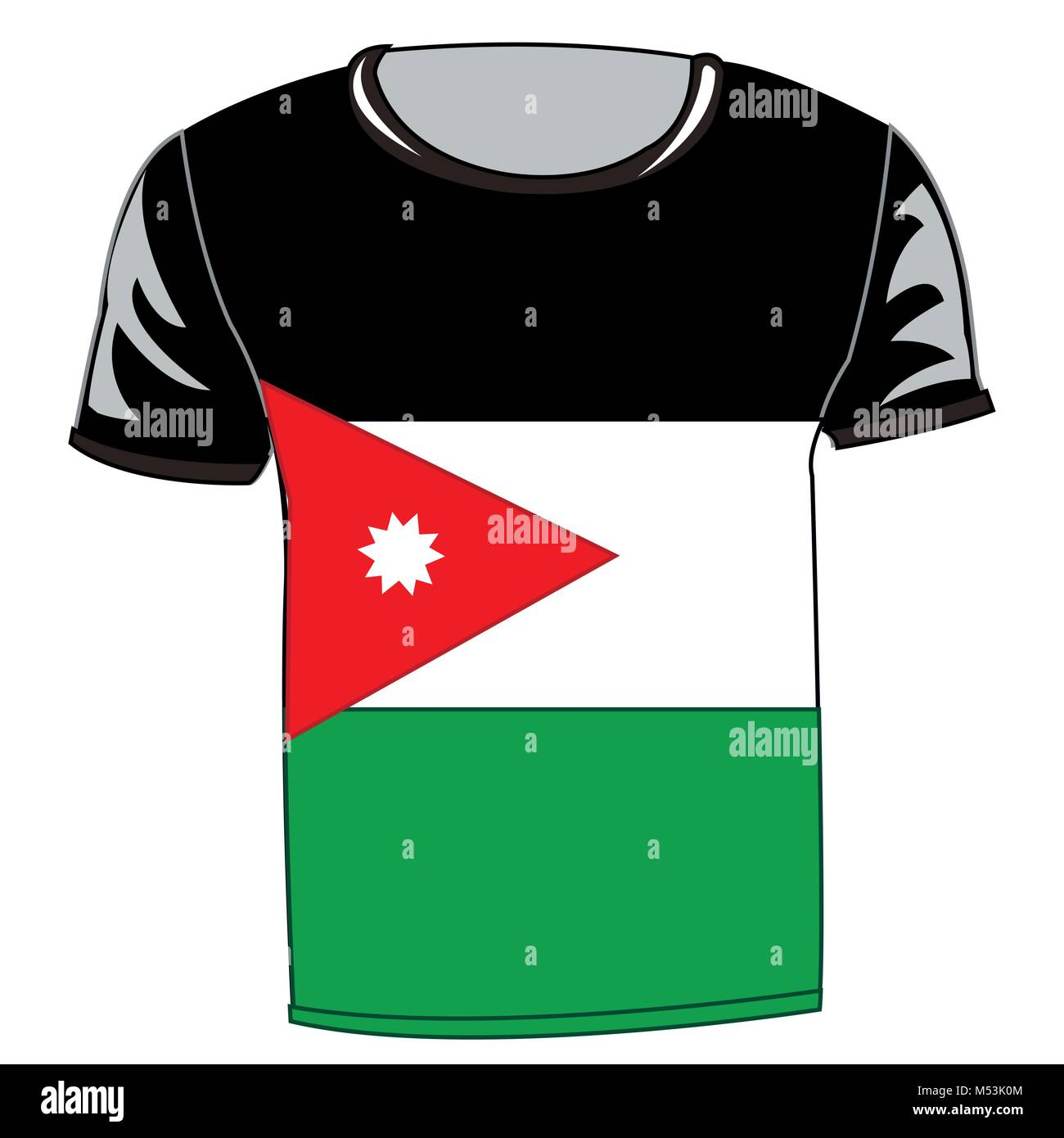 Country jordan stock photos country jordan stock images alamy t shirt with flag jordan stock image biocorpaavc Gallery