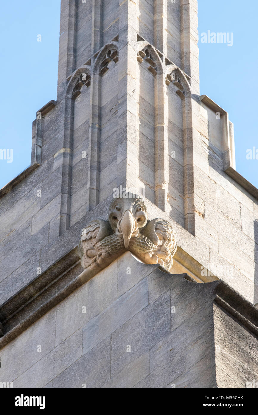 Stone carving grotesque gargoyle stock photos