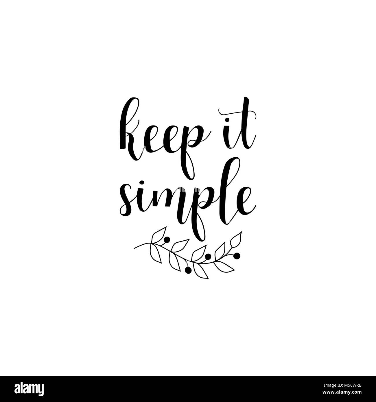 keep it simple lettering design for banner poster card