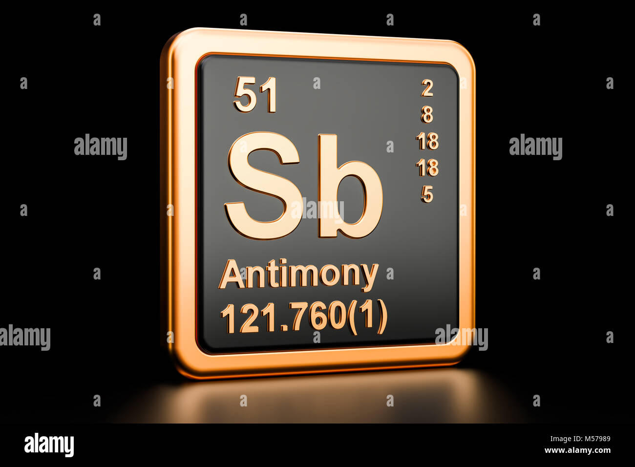 Stibium stock photos stibium stock images alamy antimony sb stibium chemical element 3d rendering isolated on black background stock image biocorpaavc Images