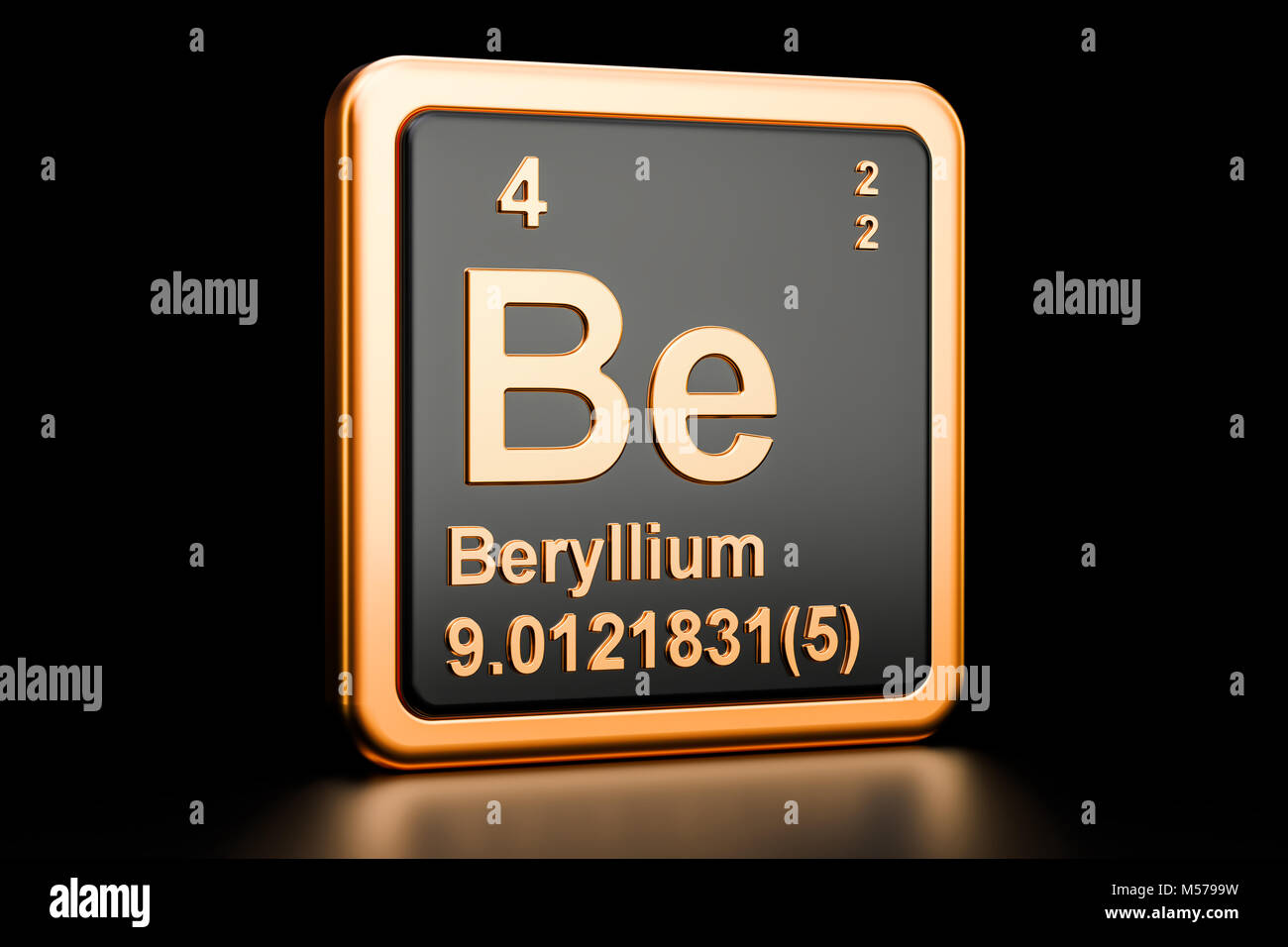 Beryllium chemical element periodic table stock photos beryllium beryllium be chemical element 3d rendering isolated on black background stock image buycottarizona Image collections