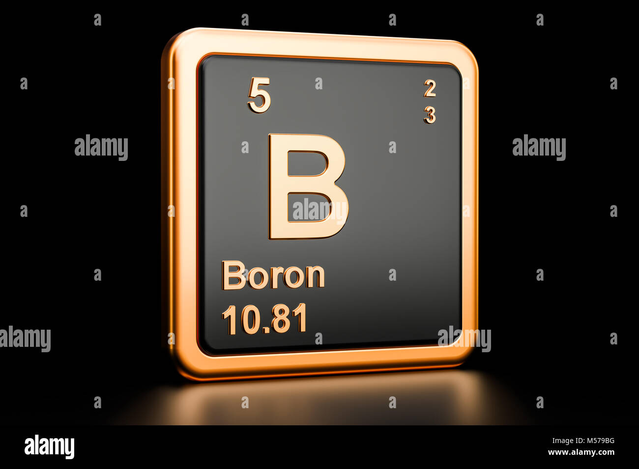 Symbol chemical element boron stock photos symbol chemical boron b chemical element 3d rendering isolated on black background stock image buycottarizona