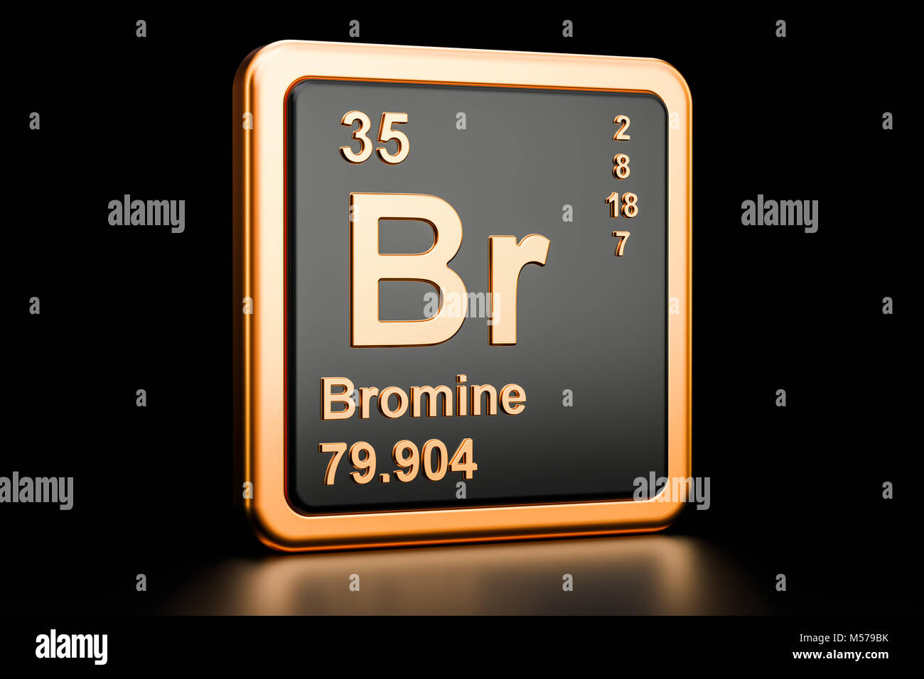 Symbol chemical element bromine stock photos symbol chemical bromine br chemical element 3d rendering isolated on black background stock image biocorpaavc