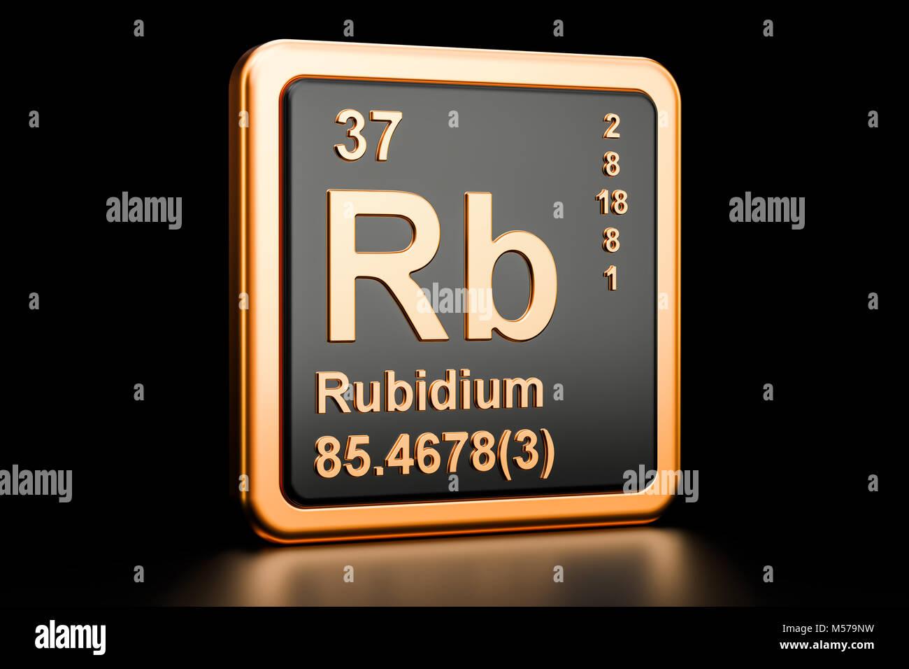 Rubidium rb chemical element 3d rendering isolated on black stock rubidium rb chemical element 3d rendering isolated on black background buycottarizona Choice Image