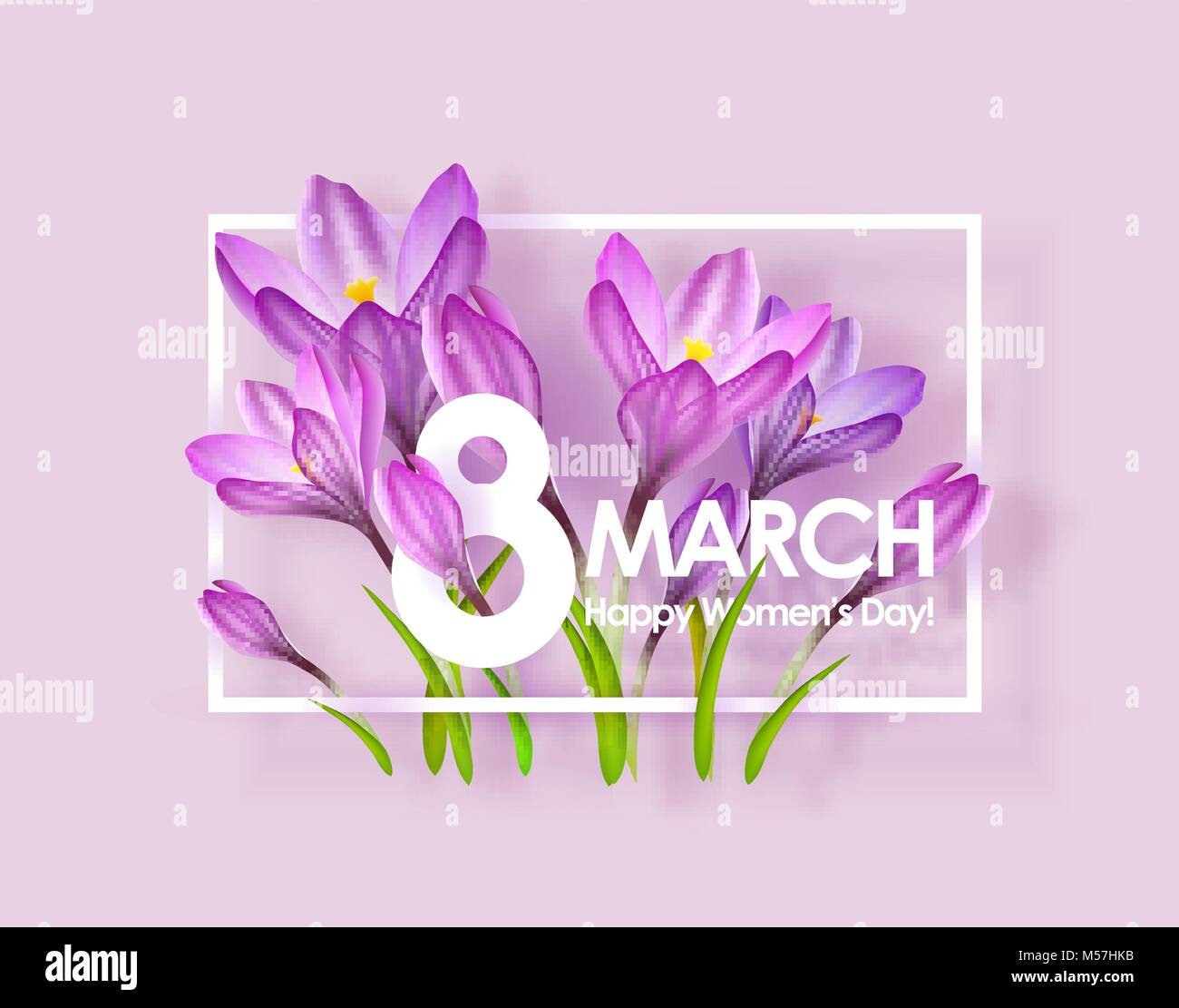 Happy Womens Day Greeting Card Stock Vector Art Illustration