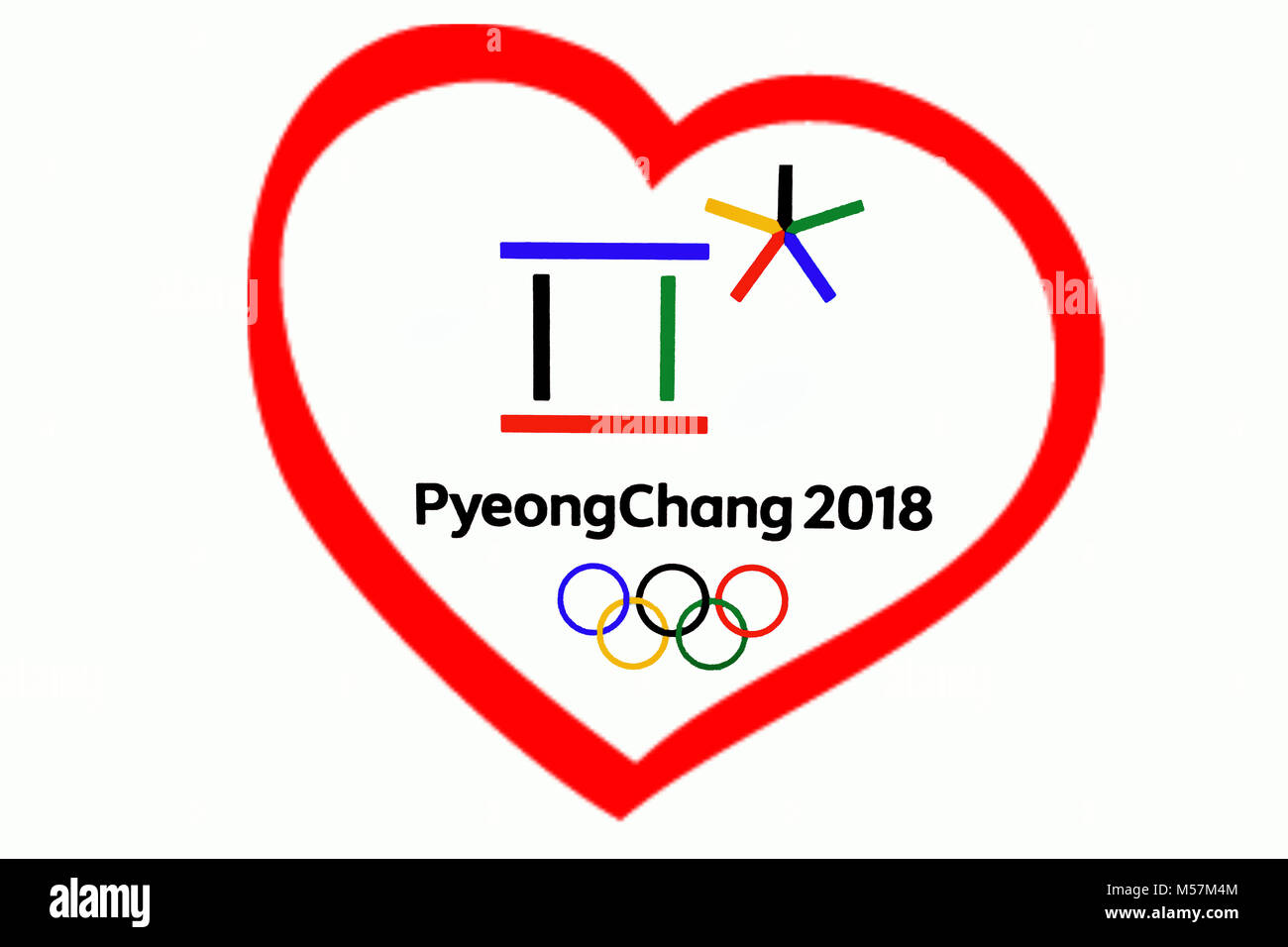Xxiii olympic winter games stock photos xxiii olympic winter 14 december 2017 moscow russia symbols xxiii winter olympic games in pyeongchang republic of buycottarizona