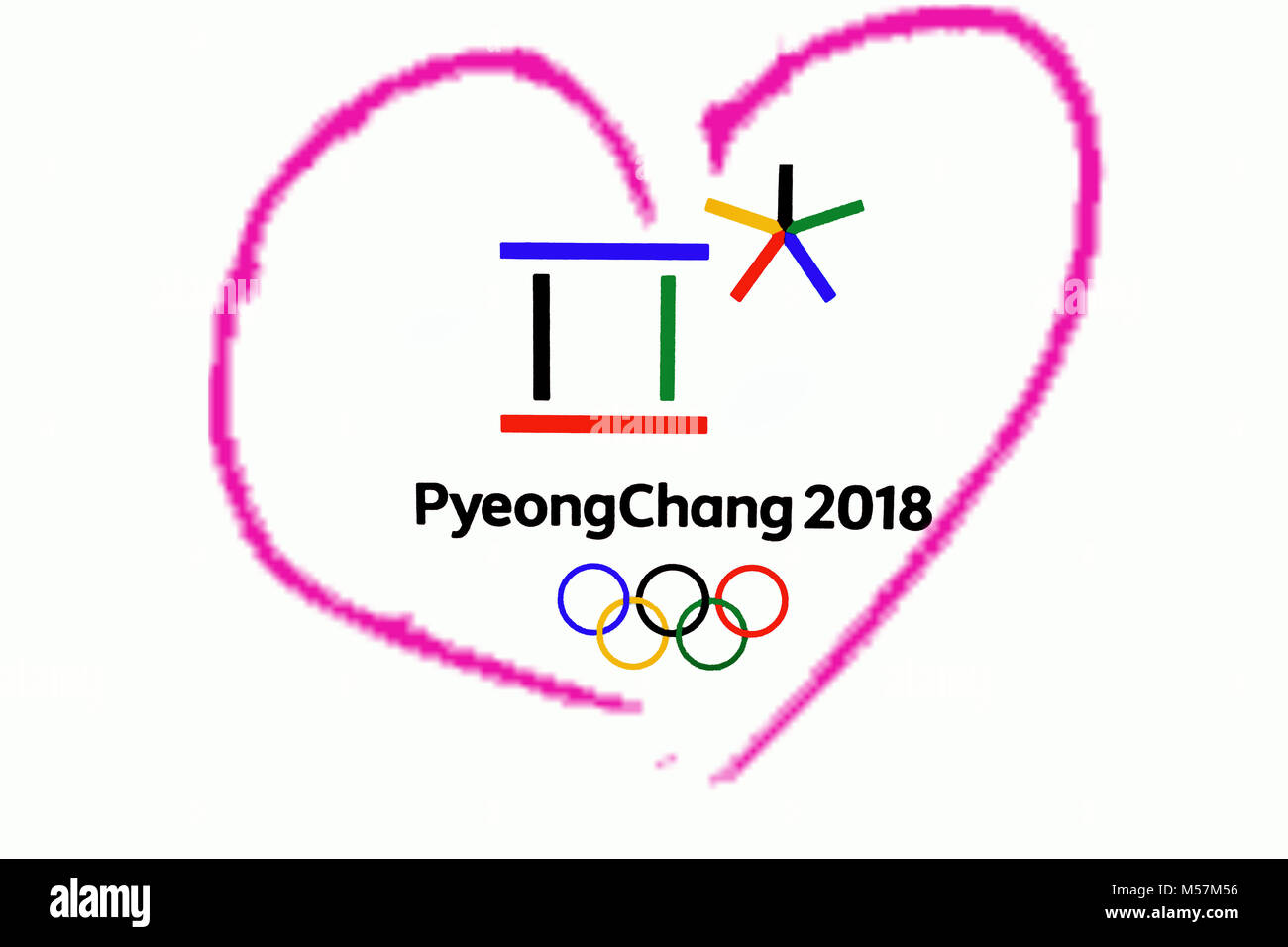 14 december 2017 moscow russia symbols xxiii winter olympic games 14 december 2017 moscow russia symbols xxiii winter olympic games in pyeongchang republic of korea in the pink heart heart biocorpaavc Images