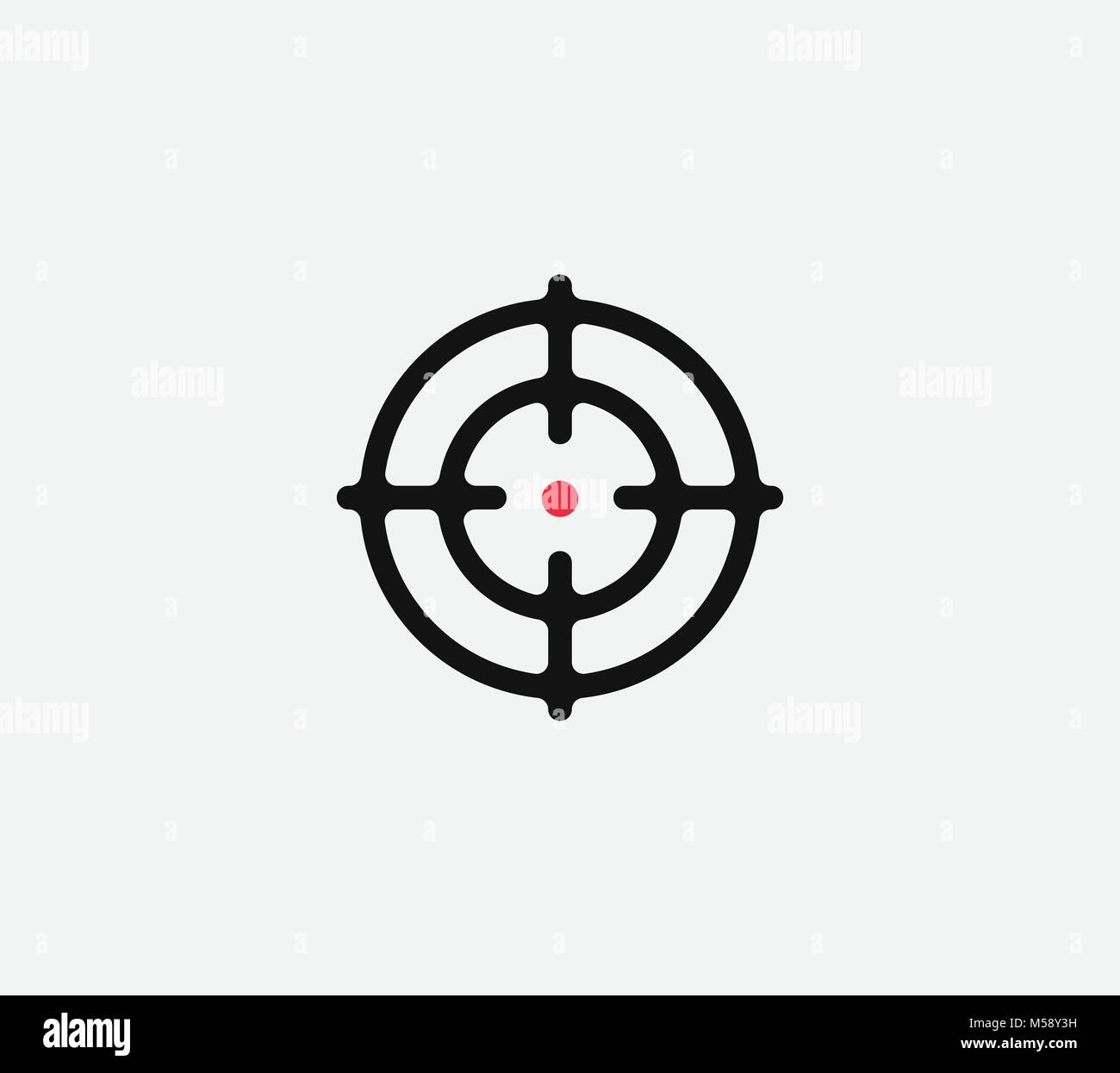 Aim vector linear stylized icon goal abstract sign target symbol aim vector linear stylized icon goal abstract sign target symbol gun business logo buycottarizona Image collections