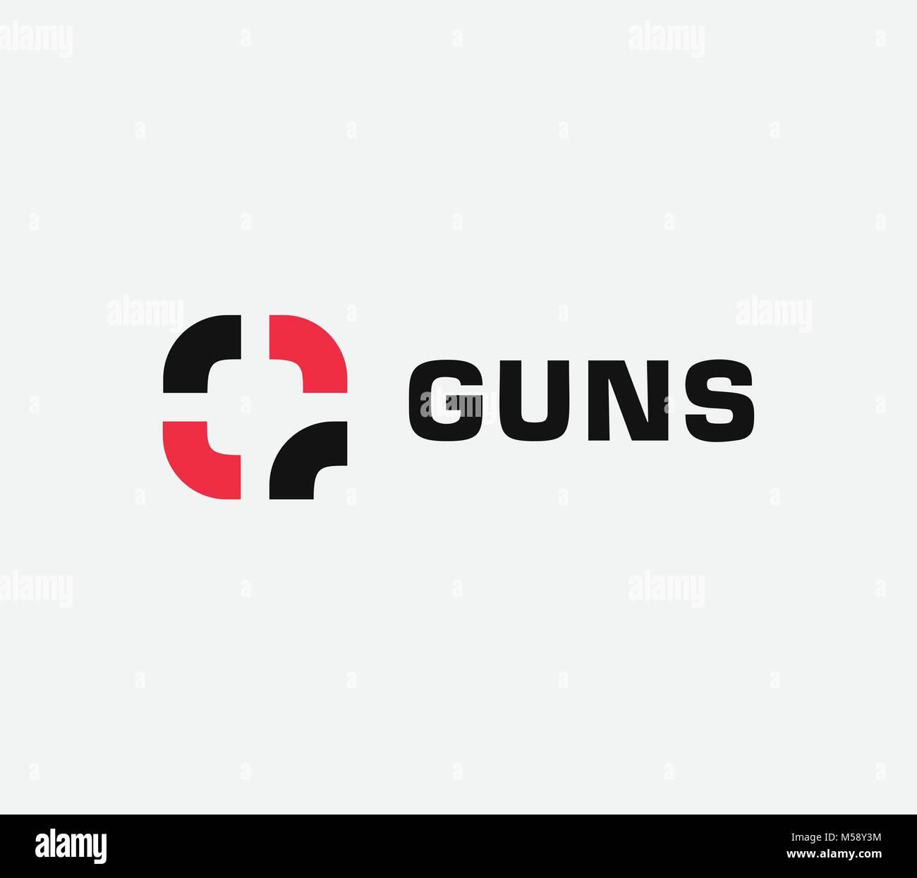 Gun stock photos gun stock images page 5 alamy aim vector linear stylized icon goal abstract sign target symbol gun business logo biocorpaavc