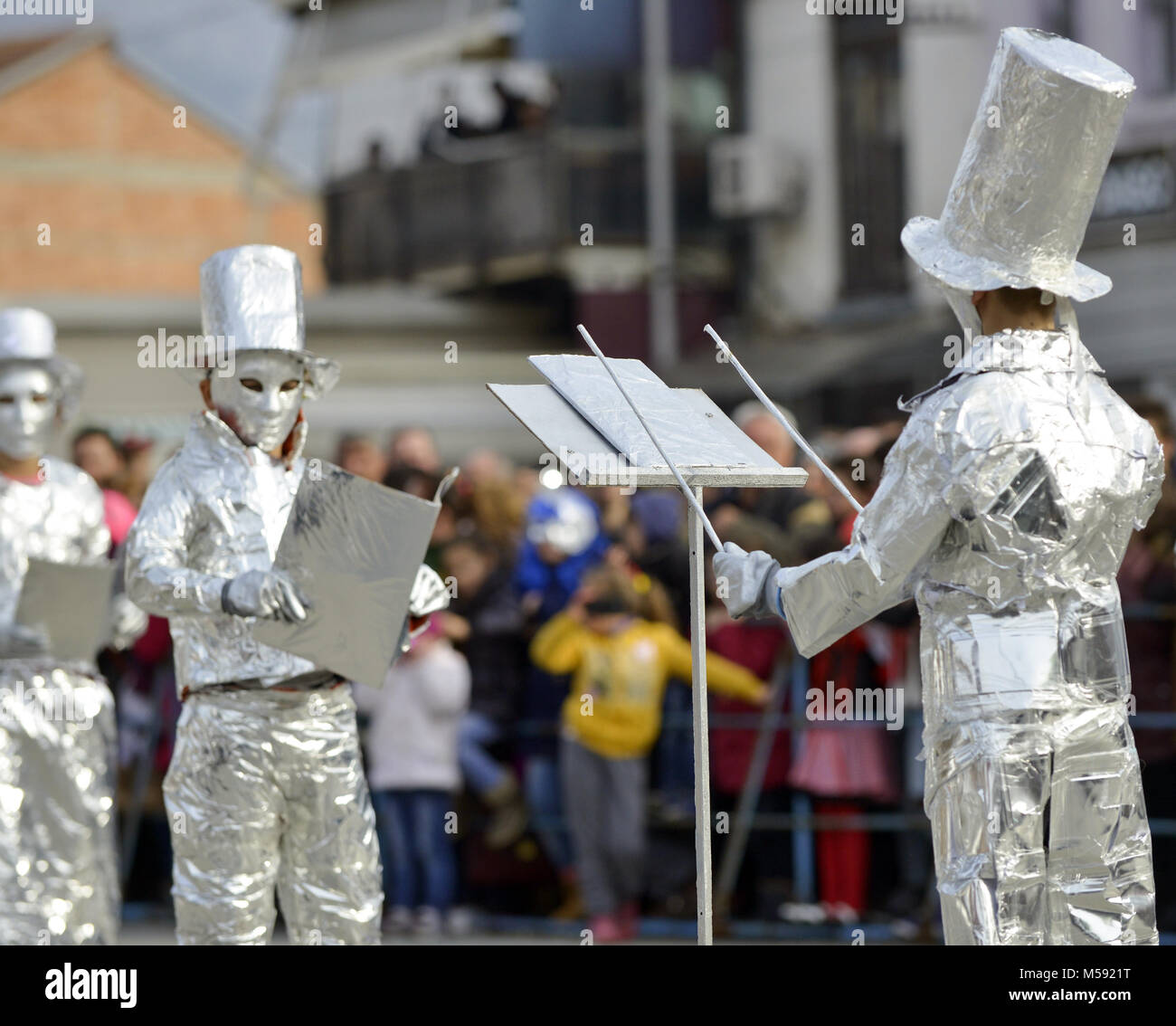 Tin Foil Conductor : Masquerade book stock photos