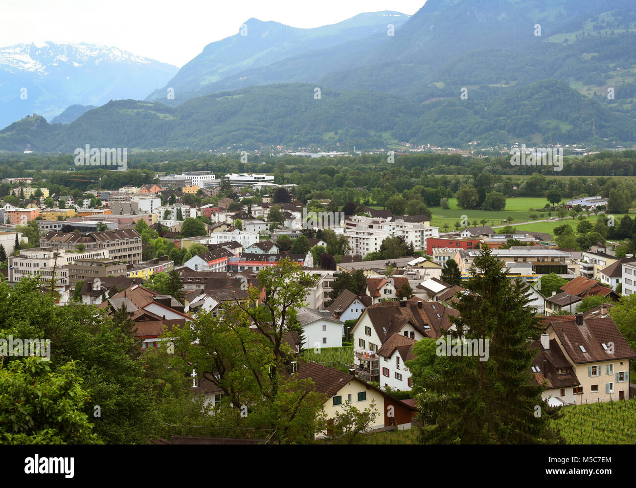 Vaduz Liechtenstein Top View Is The Capital Of And Also Seat National Parliament