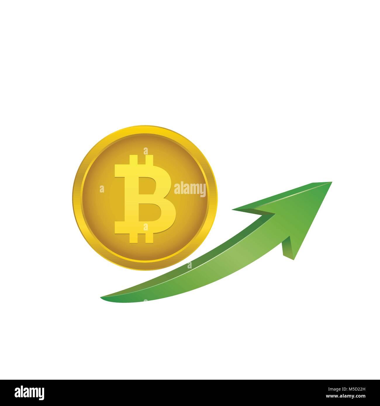 Bitcoin symbol stock photos bitcoin symbol stock images alamy bitcoin symbol with green arrow stock image buycottarizona