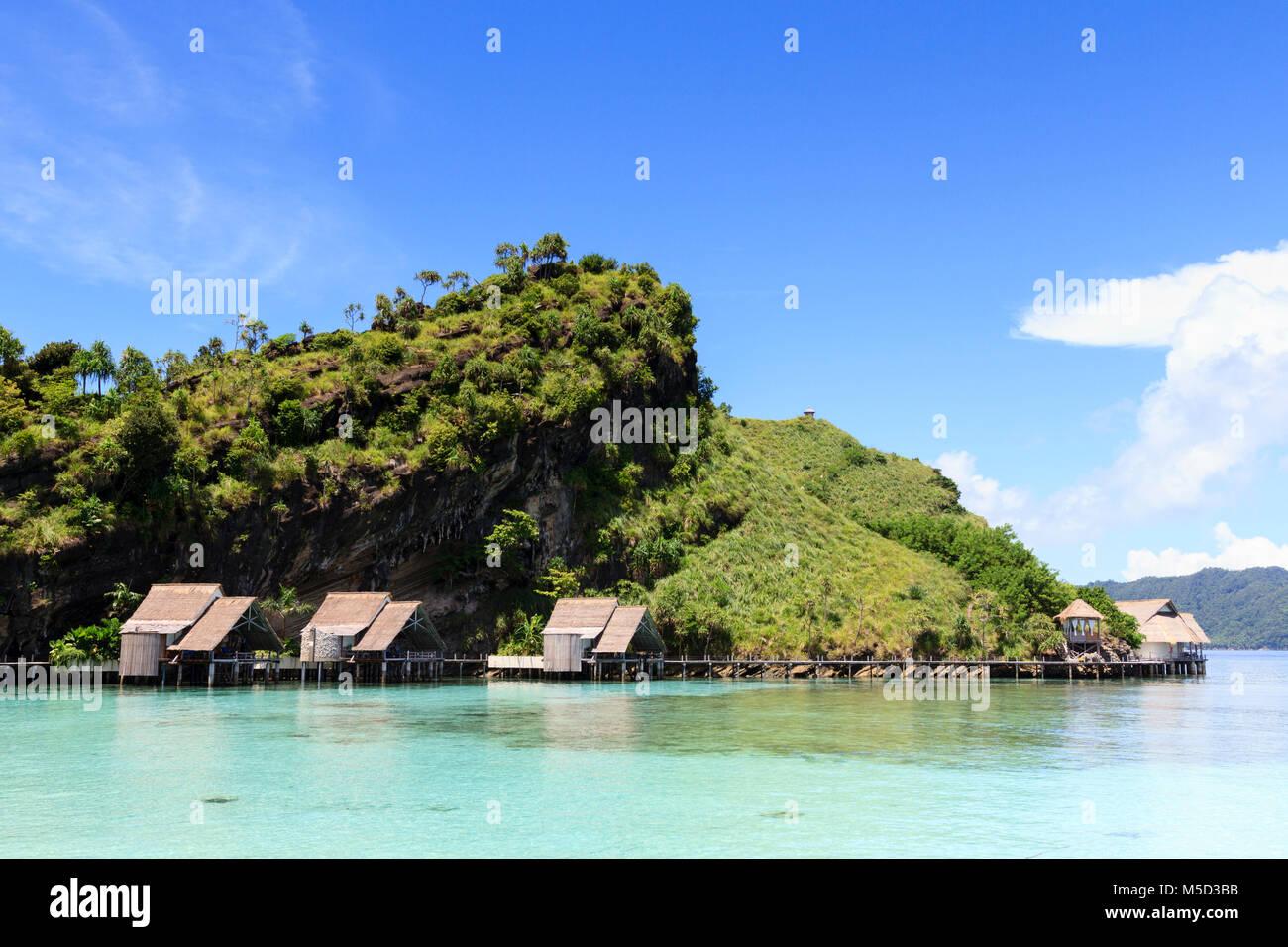 Misool Eco Resort North Lagoon Raja Ampat Indonesia Stock Photo