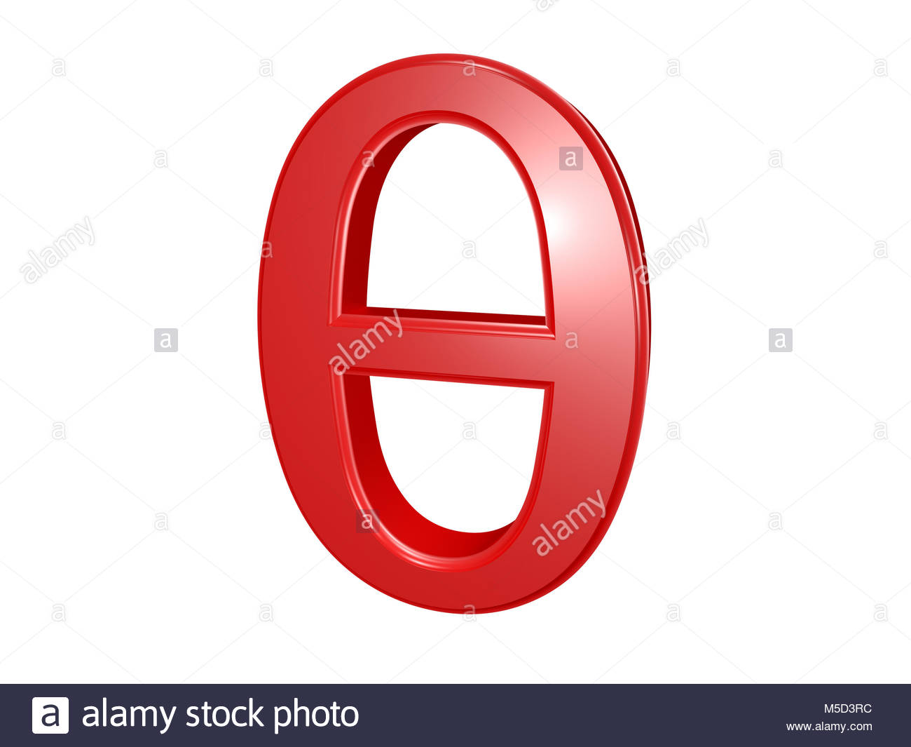 Theta greek letter isolated on white 3d illustration stock theta greek letter isolated on white 3d illustration biocorpaavc Image collections