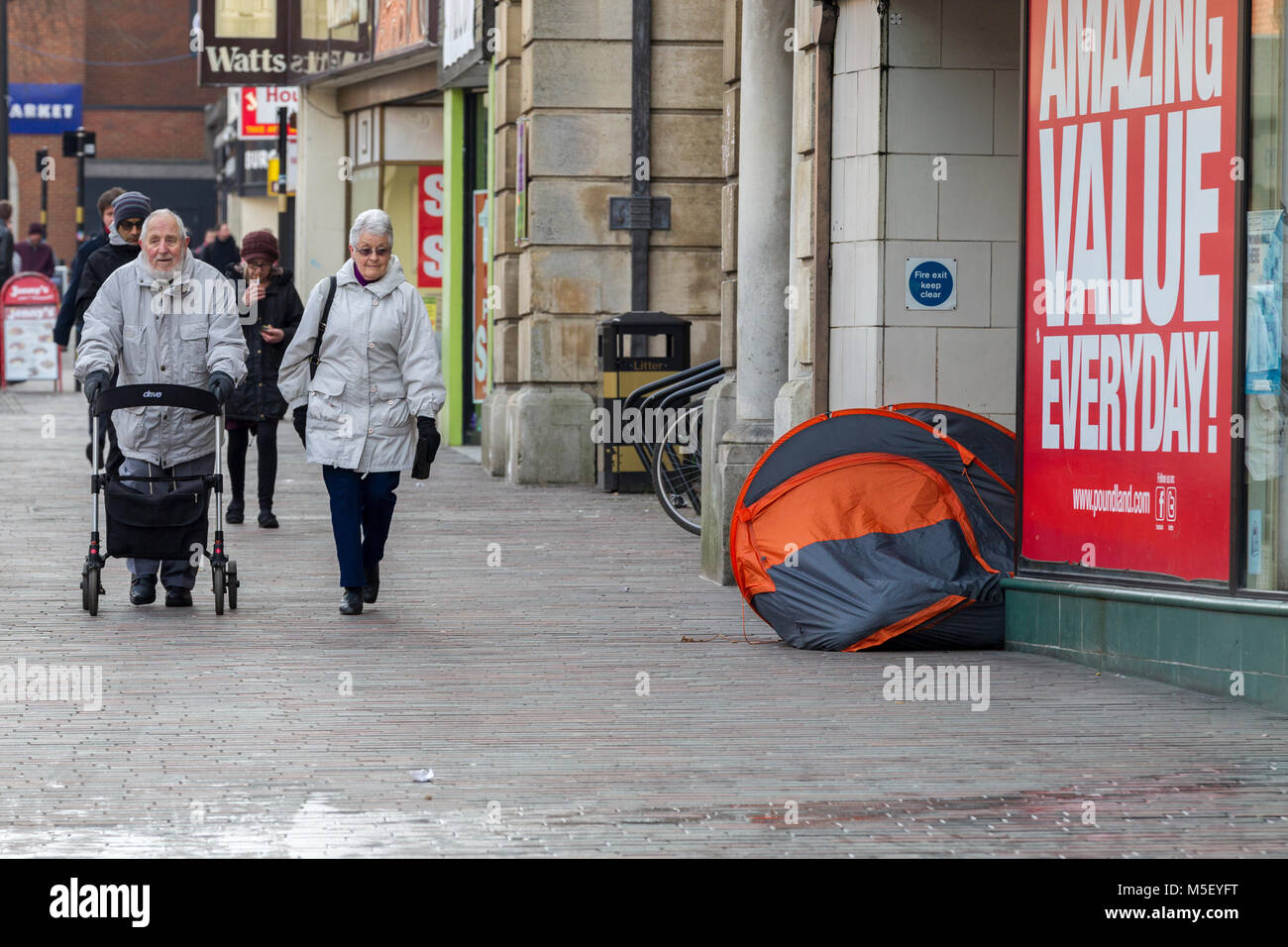 North&ton U.K. 23rd February 2018. Weather. Homeless living in a tent in a & Homeless Tent Uk Stock Photos u0026 Homeless Tent Uk Stock Images - Alamy