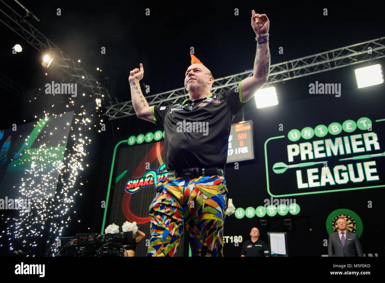 Berlin Germany 22nd Feb 2018 Darts Premier League 4th Match