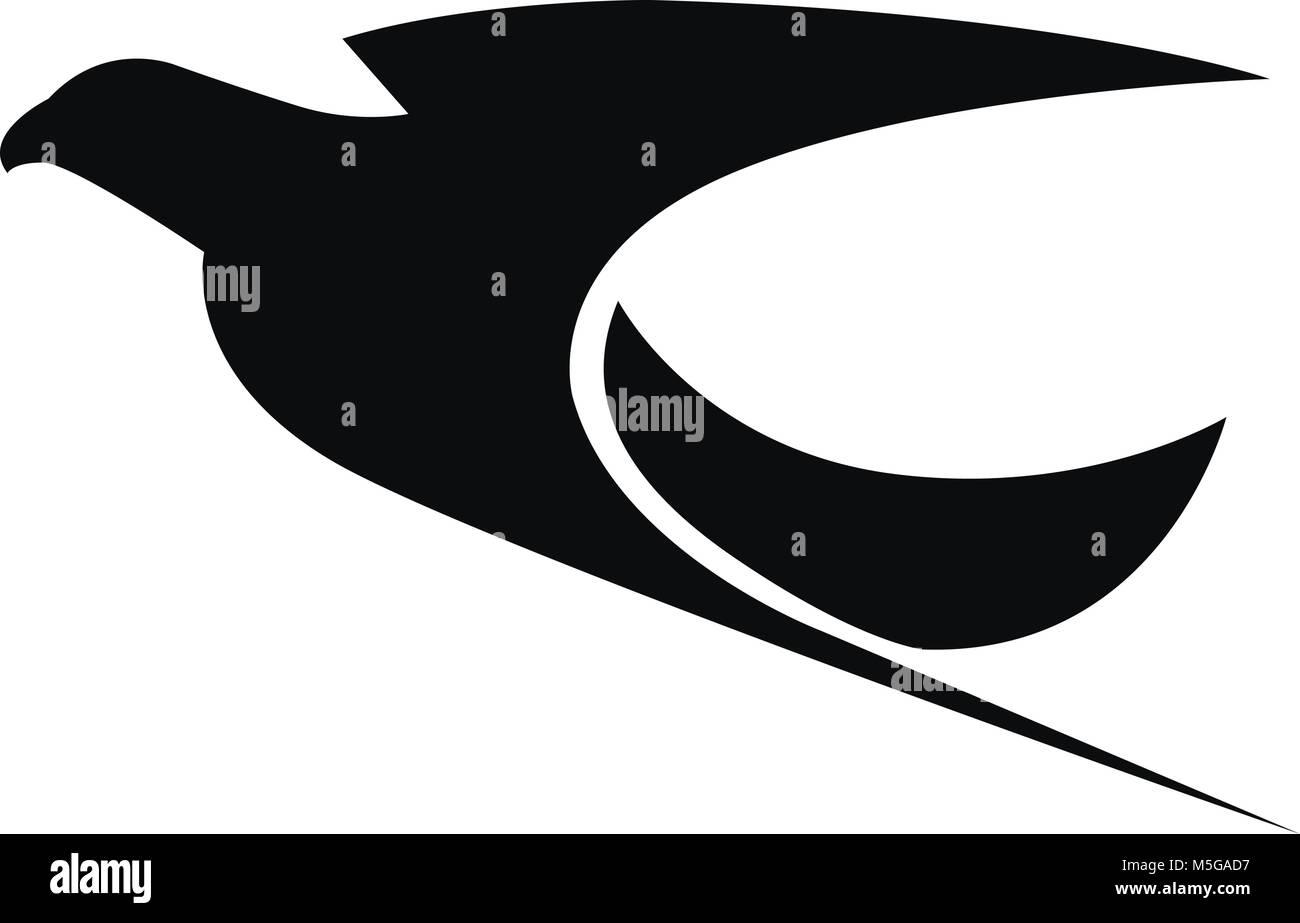 eagle logo vector illustration stock vector art illustration