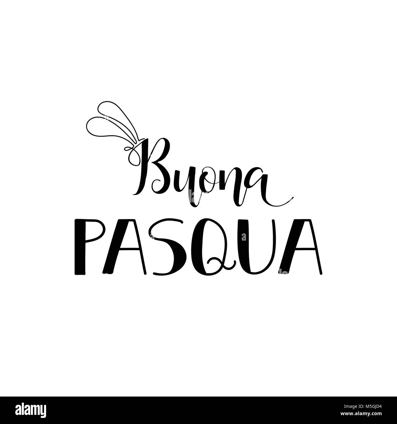 Buona Pasqua Lettering Translation From Italian Happy Easter