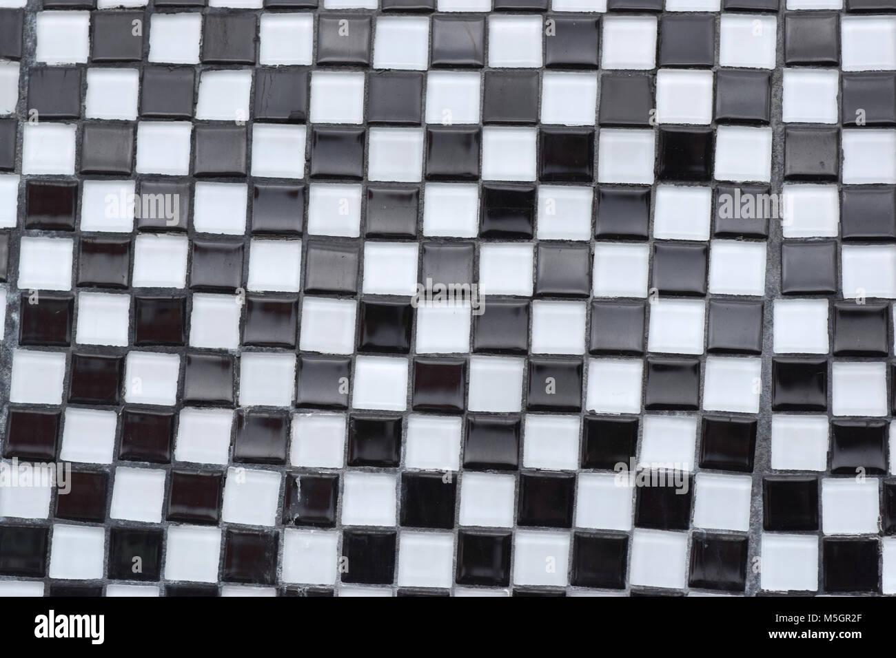Checkerboard tile floor stock photos checkerboard tile floor black and white glass tile checkerboard closeup texture stock image dailygadgetfo Gallery