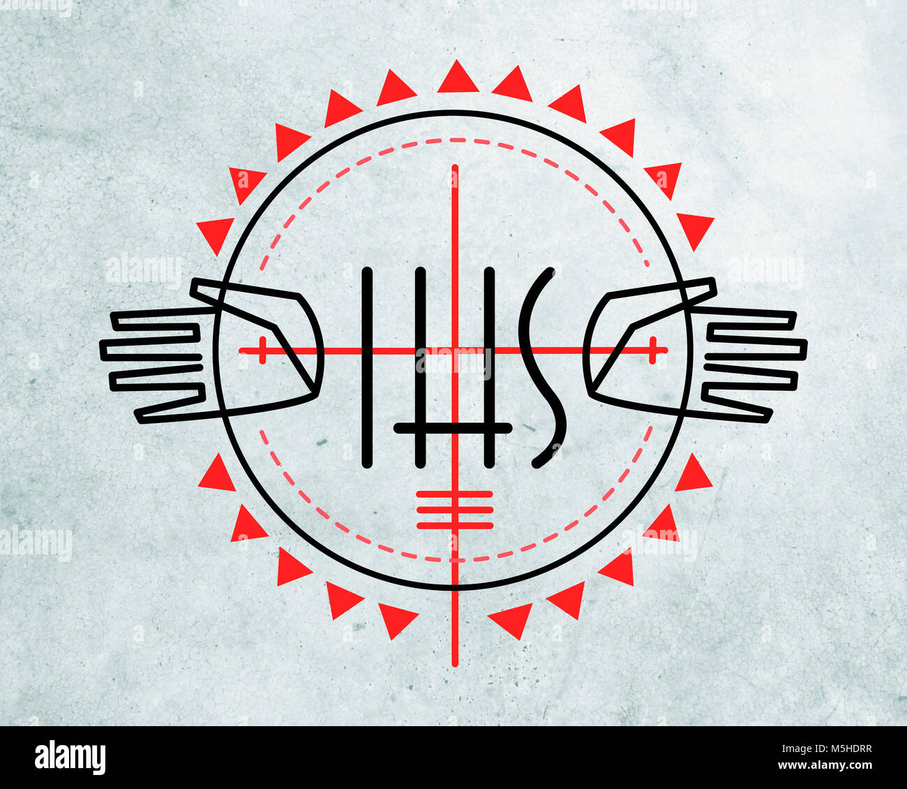 Monogram of jesus christ stock photos monogram of jesus christ hand drawn vector illustration or drawing of some religious christian symbols and jesus hands stock biocorpaavc Choice Image