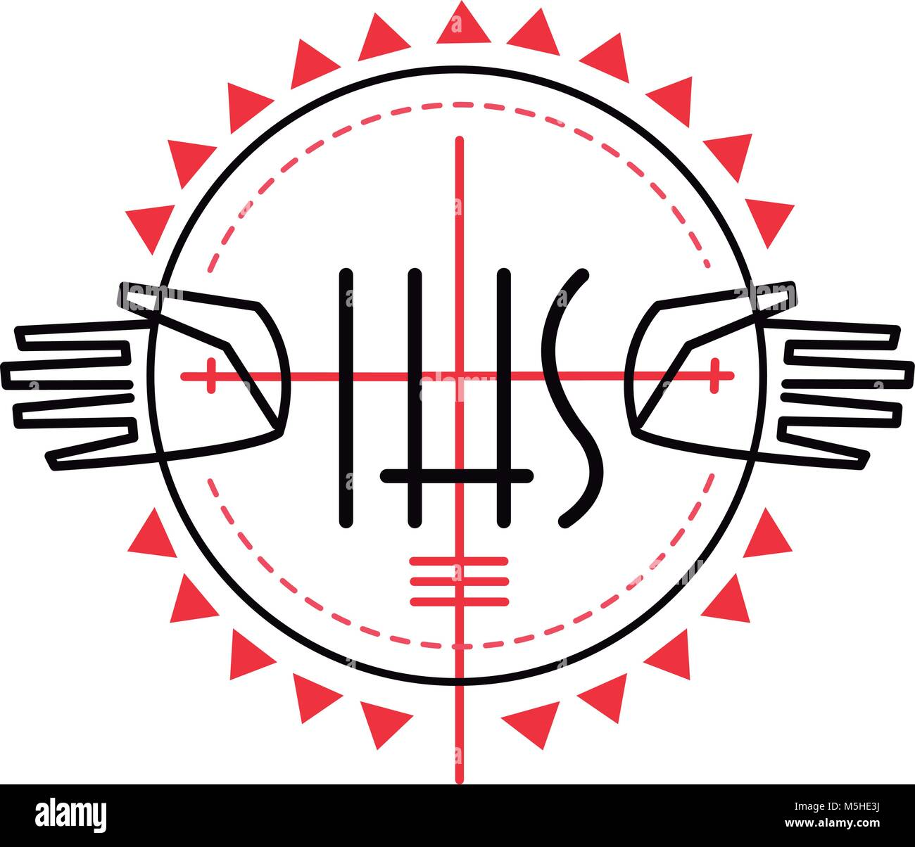 Monogram of jesus christ stock photos monogram of jesus christ hand drawn vector illustration or drawing of some religious christian symbols and jesus hands stock biocorpaavc
