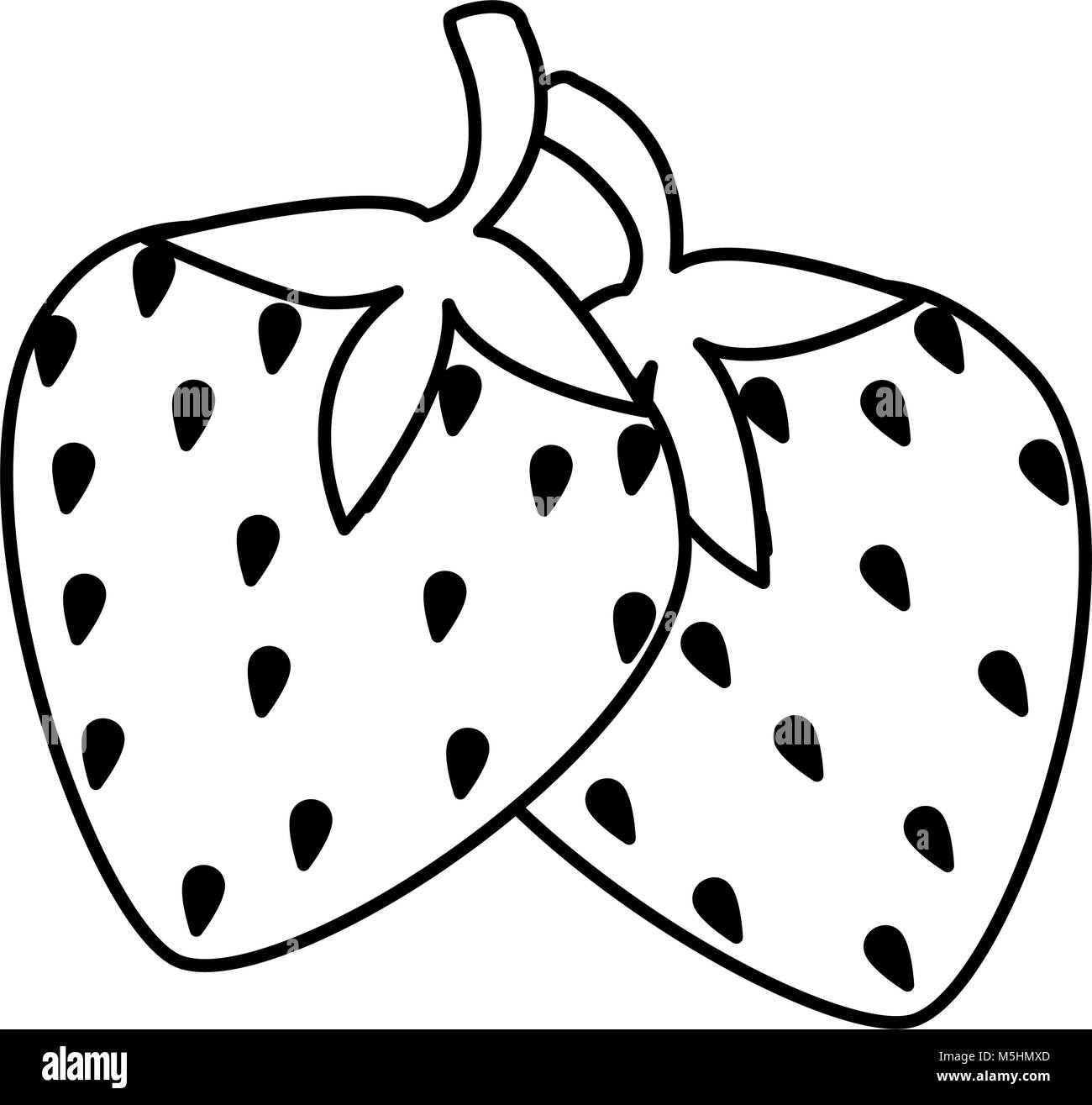 Strawberry Black and White Stock Photos  for Clipart Strawberry Black And White  66pct
