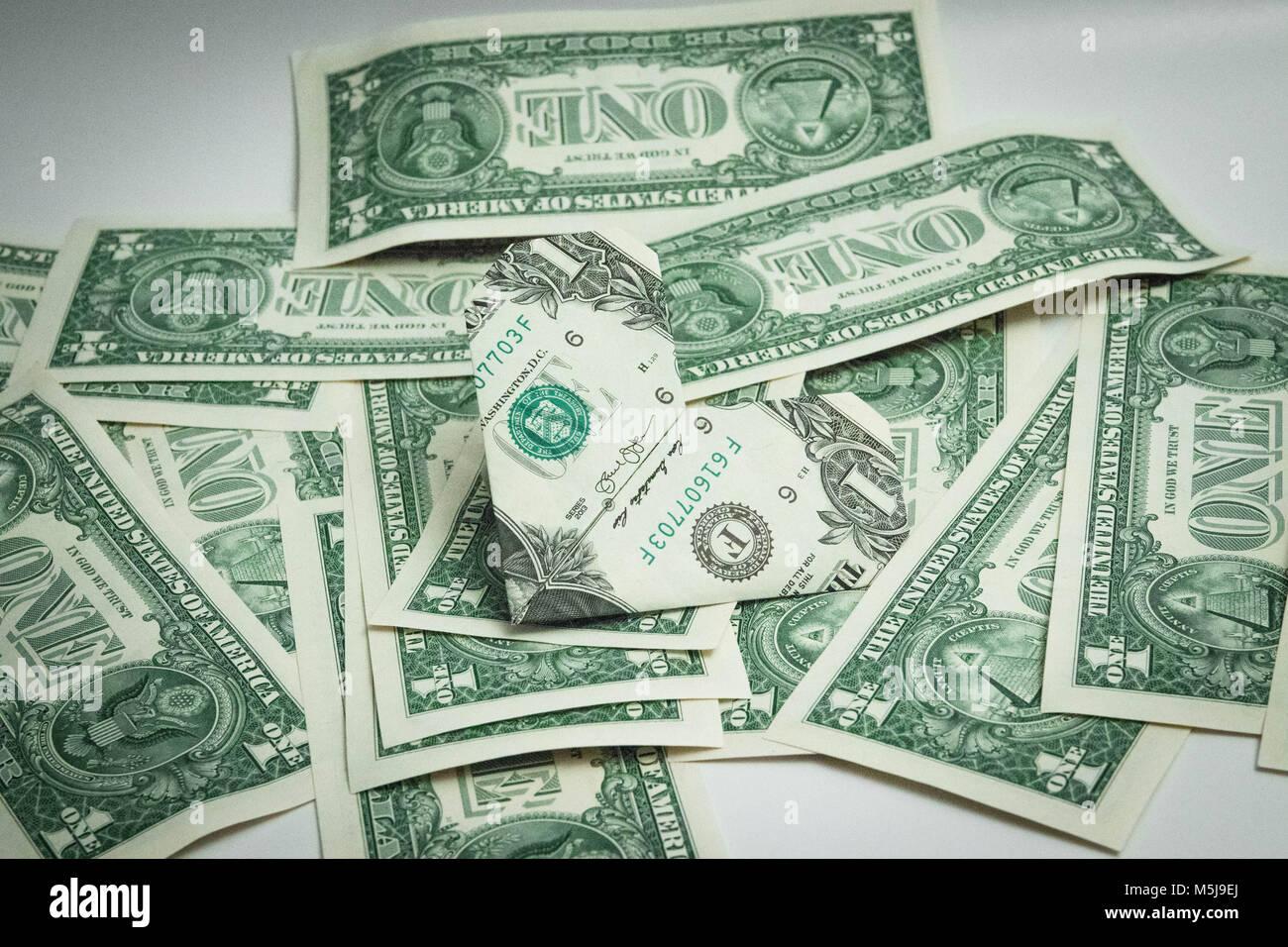 Origami heart dollar bill one dollar usa stock photo royalty free origami heart dollar bill one dollar usa jeuxipadfo Images