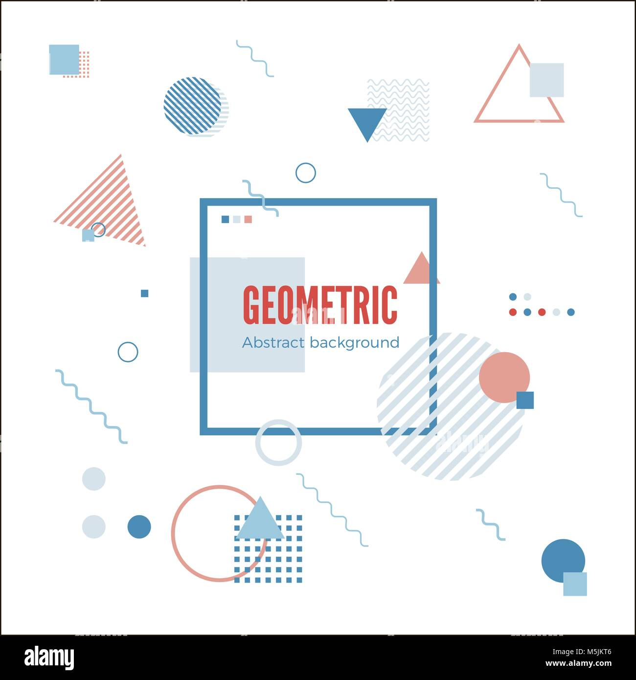 Geometric Motion Design Concept. Simple Geometry Pattern With Frame And  Text. Identity Banner Print. Vector Illustration