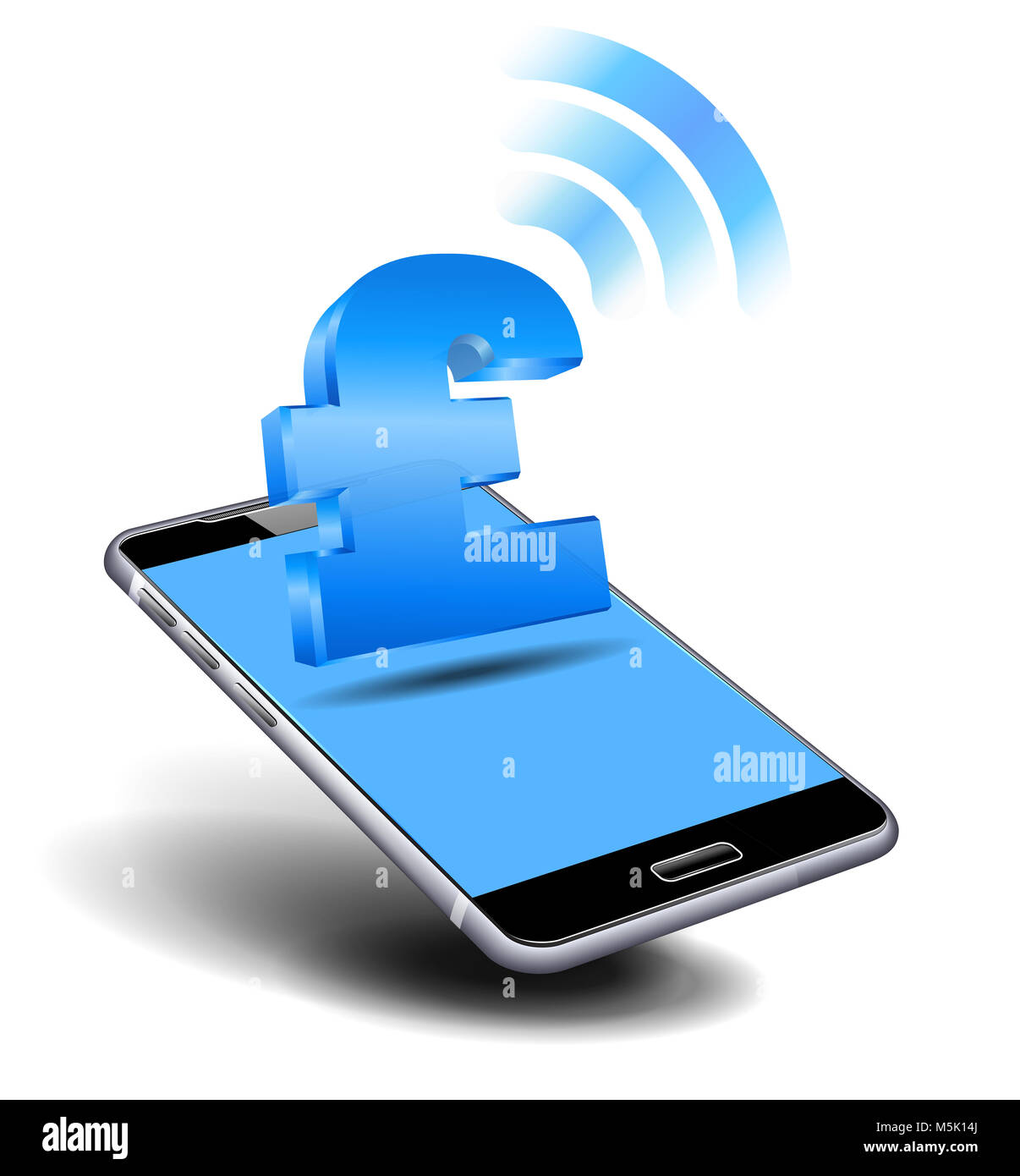 Pay Cash By Mobile Smart Phone Cell Mobile Tariff And Payment Stock