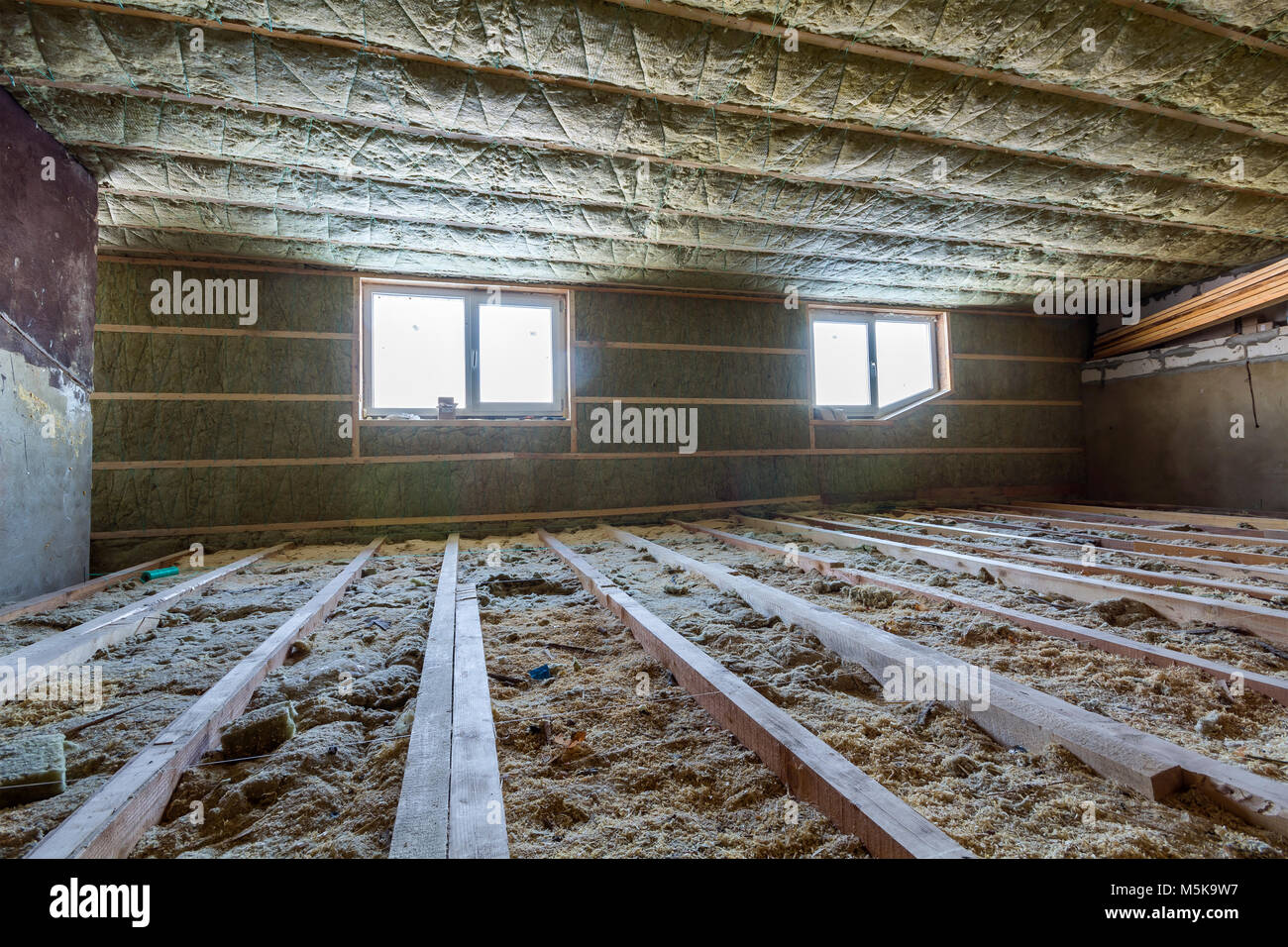 Joist ceiling stock photos joist ceiling stock images for Rocks all insulation
