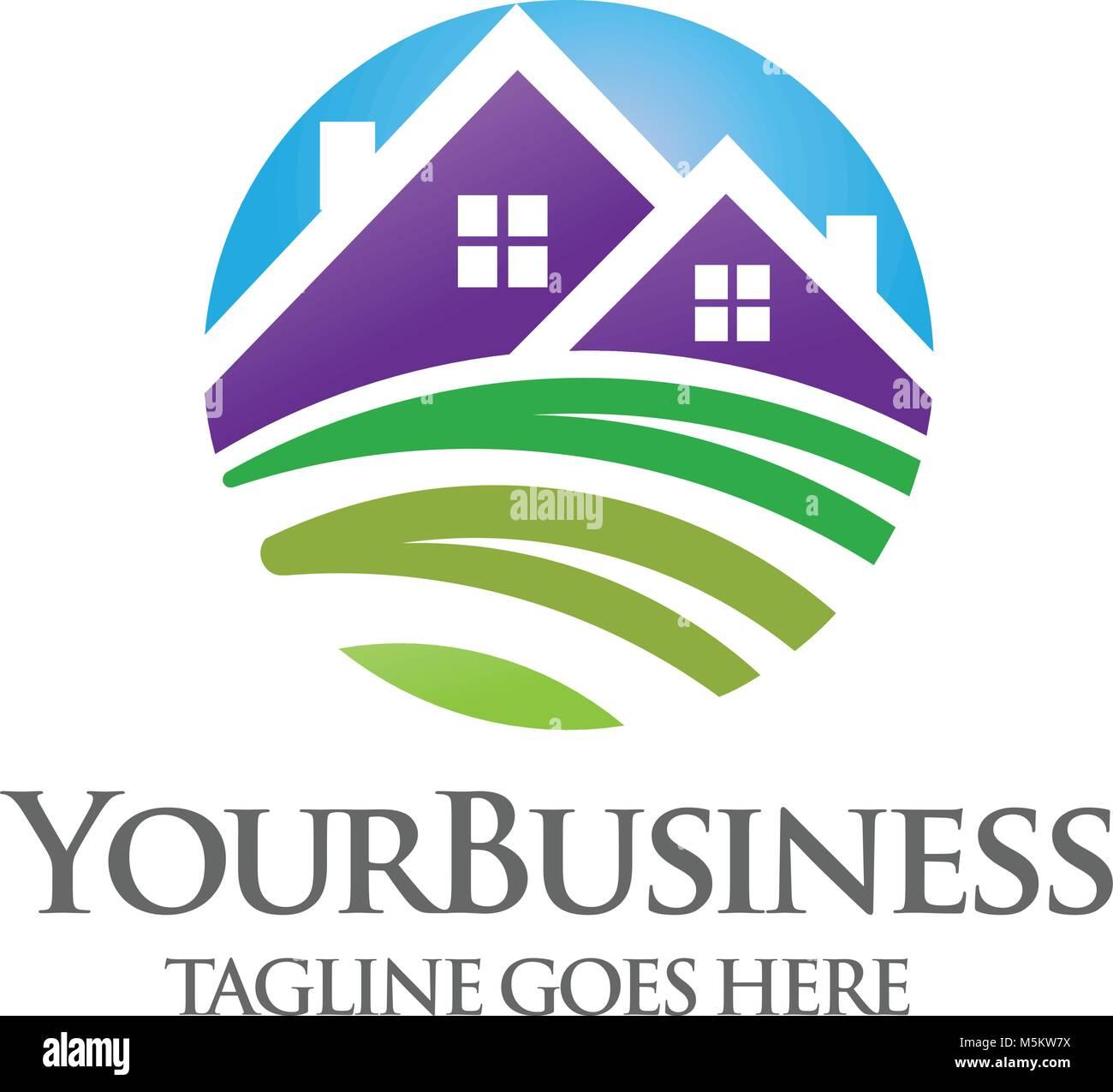 Elegant Modern And Minimalist Green House Logo Vector Stock Vector