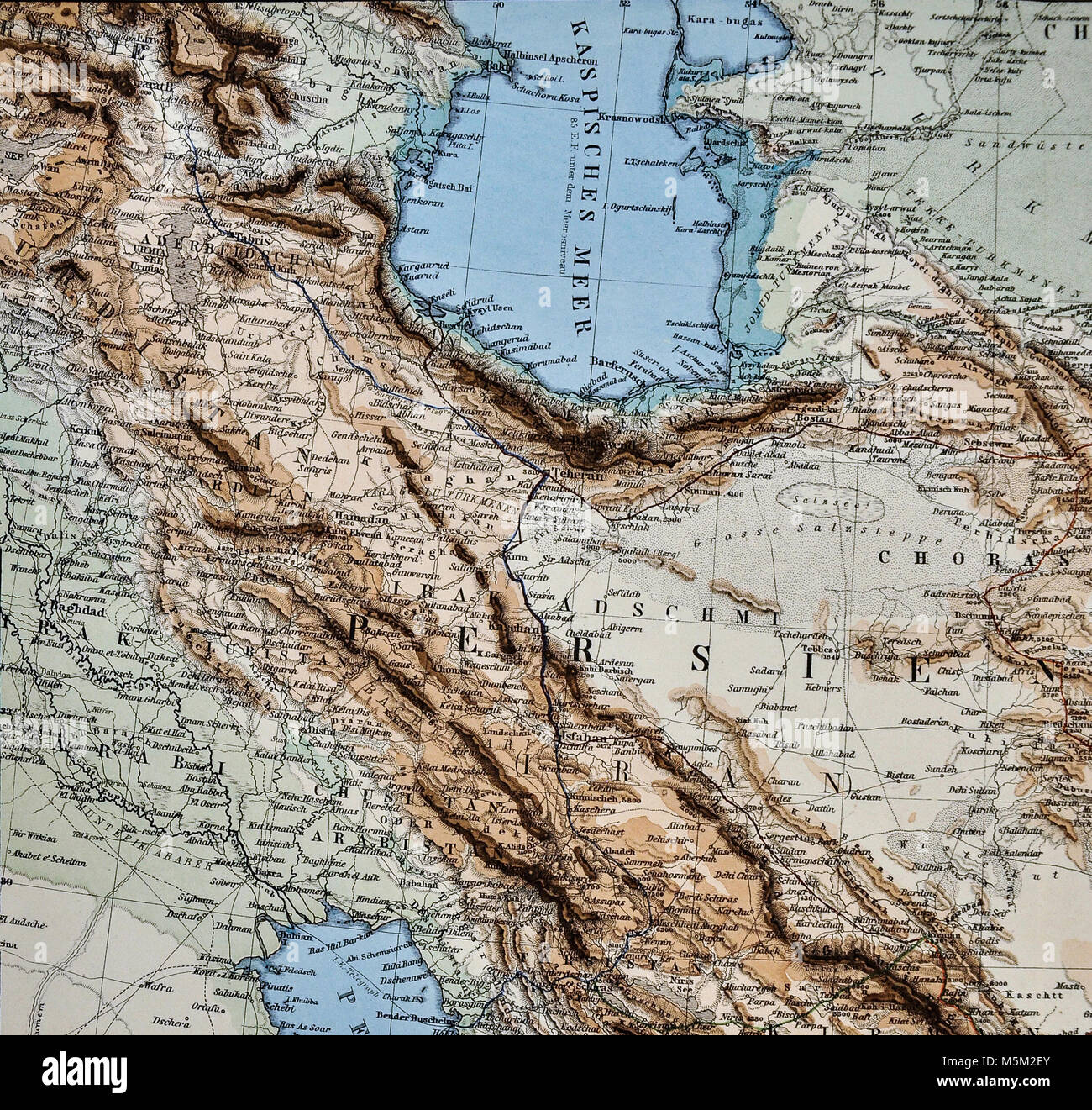 Middle East Map Circa 1920 Petermann Mittheilungen