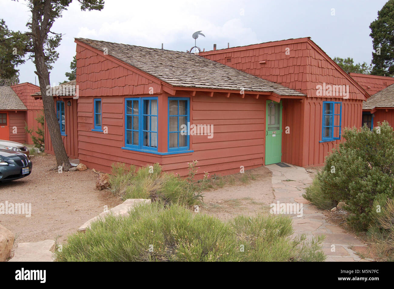 Grand Canyon National Park Bright Angel Lodge Cabin . Bright Angel Lodge,  Designed In 1935
