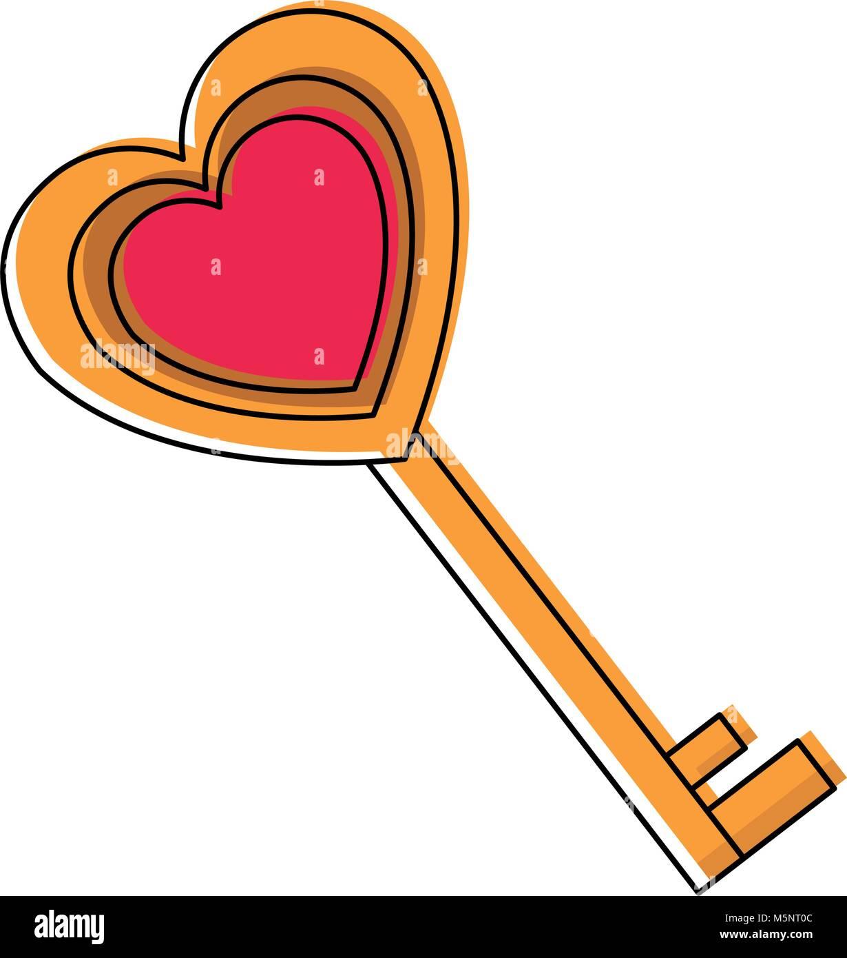 Love Key Symbol Stock Vector Art Illustration Vector Image
