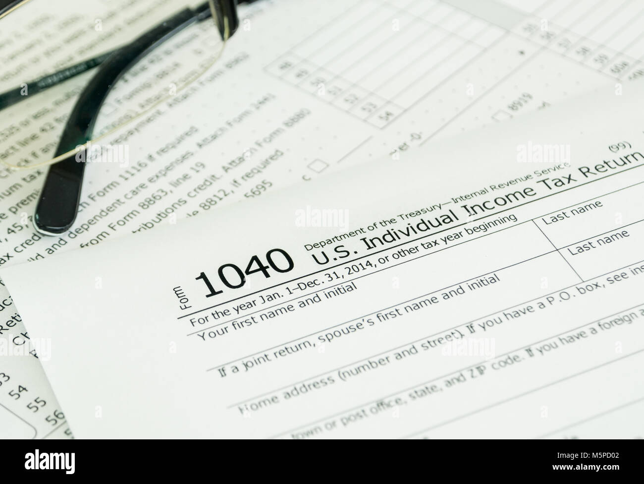 Individual Income Tax Return Form On Desk Stock Photo 175670098 Alamy