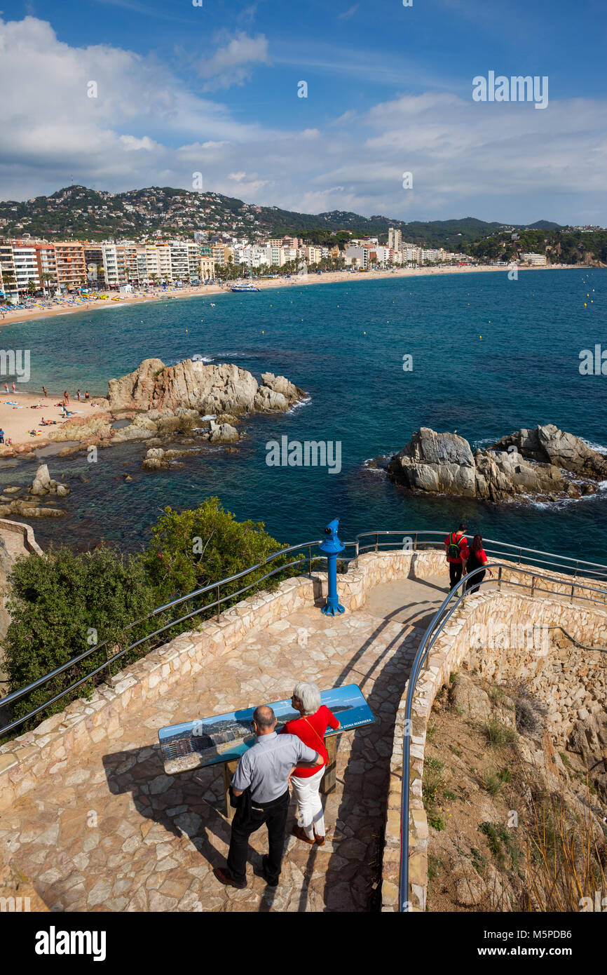 Lloret De Mar Spain Map.Staircase To The Sea In Lloret De Mar Town On Costa Brava In Stock