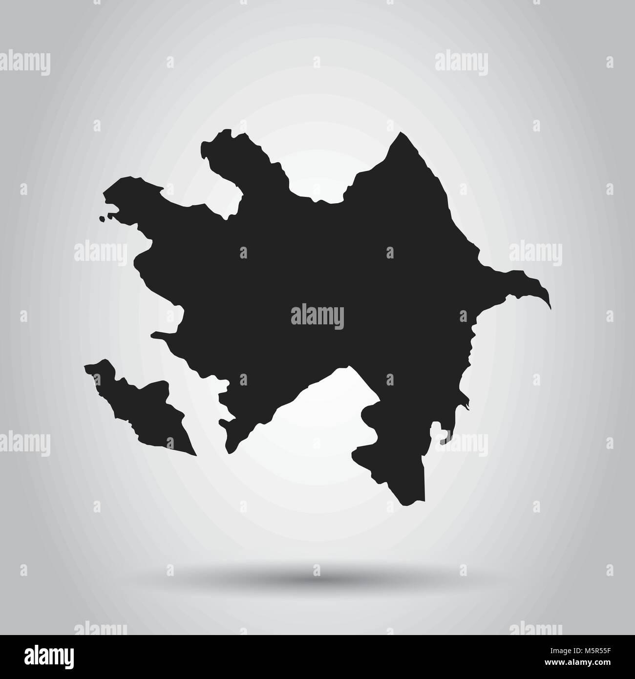 Azerbaijan vector map black icon on white background stock vector azerbaijan vector map black icon on white background gumiabroncs Image collections