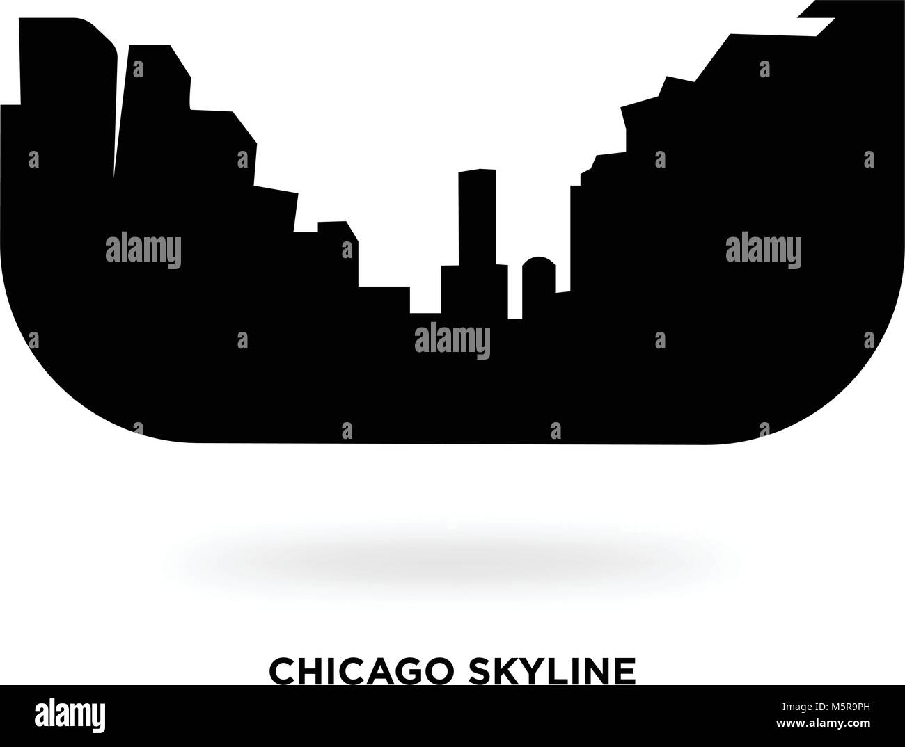 chicago skyline silhouette stock vector art illustration vector