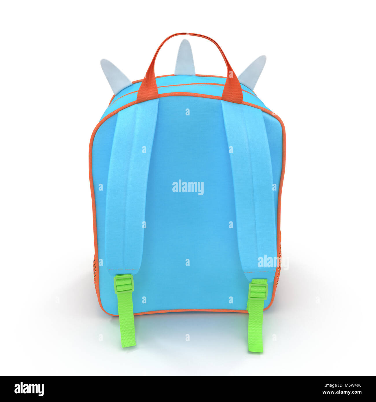 Kids Dinosaur Leash Backpack Bag On A White Rear View 3d Stock