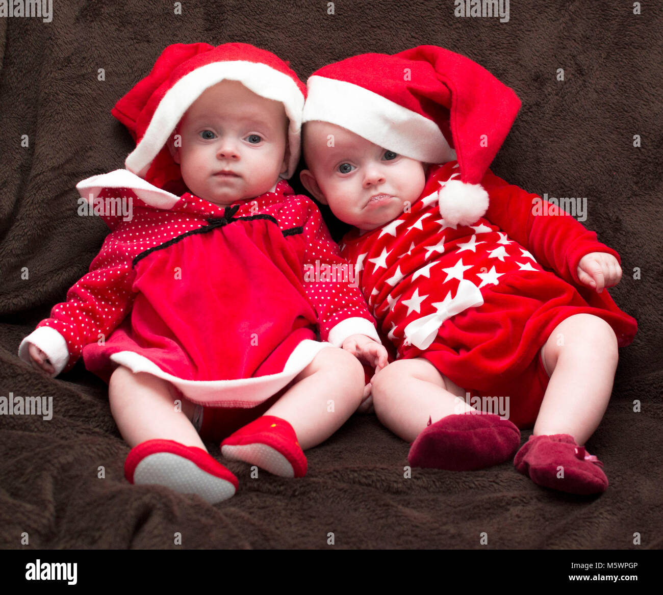 cute babies twins girls stock photo: 175743478 - alamy