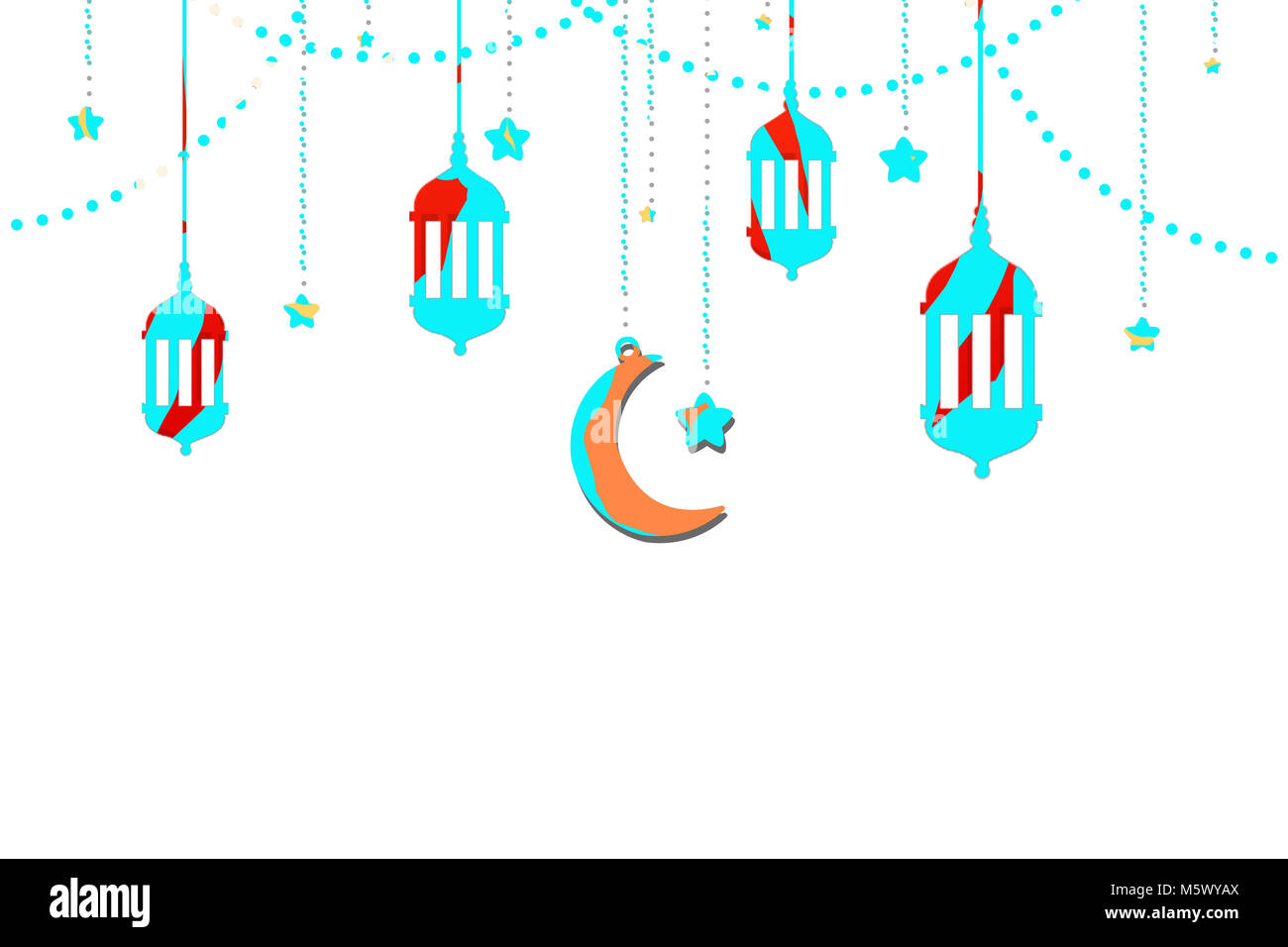 Illustration Of Eid Mubarak Islamic Holiday Greeting Card Design
